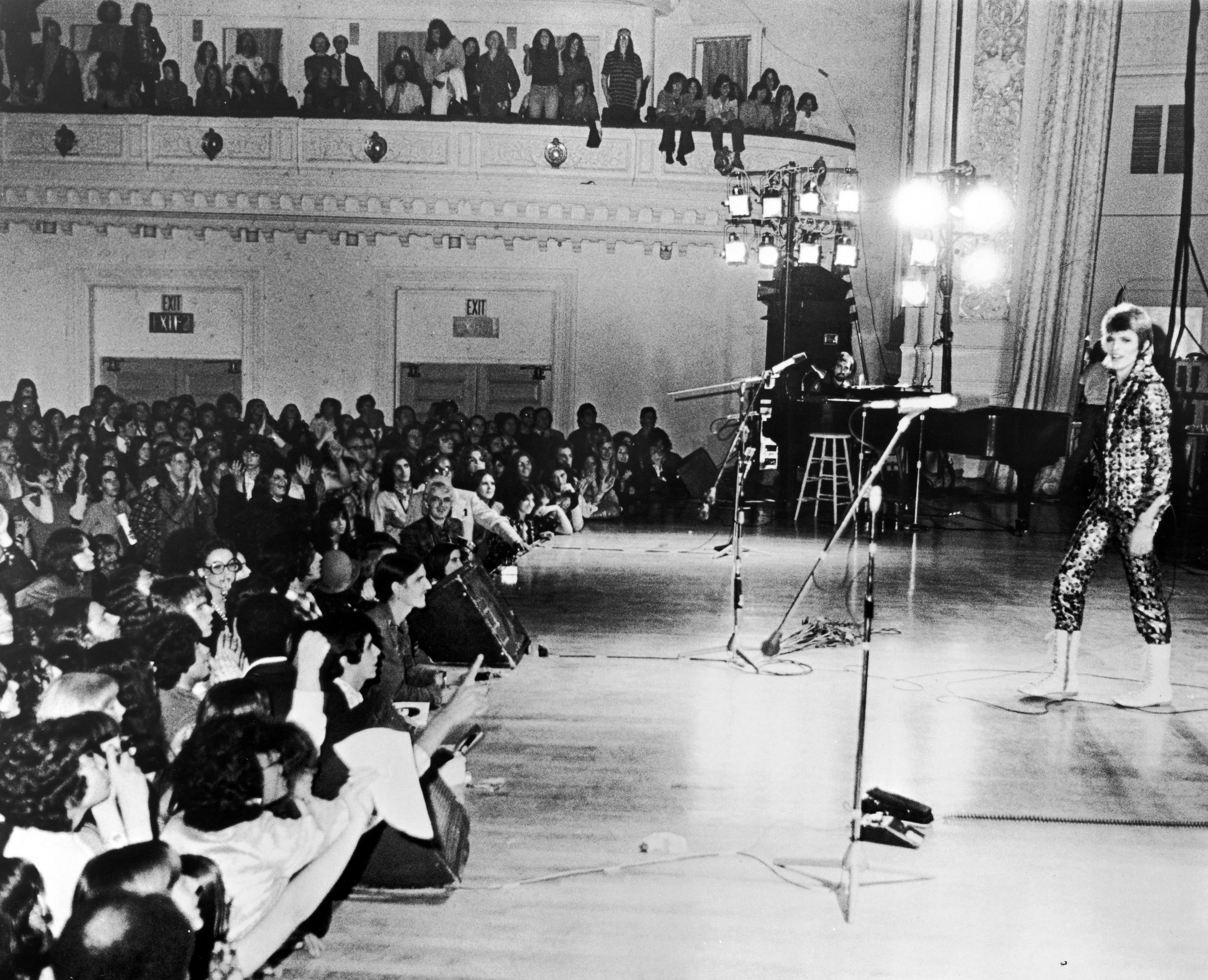 David Bowie performs c. 1973.