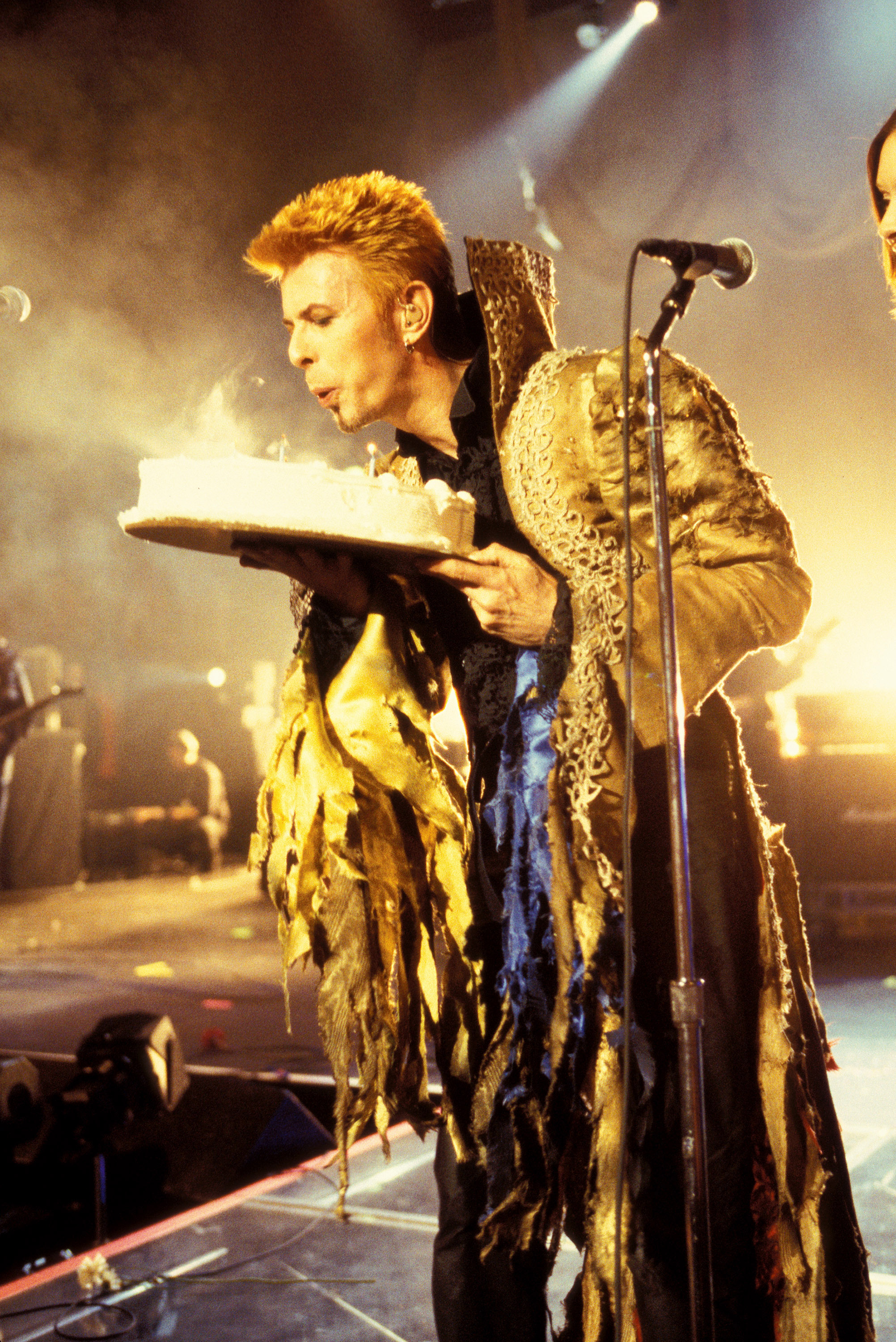 David Bowie onstage at Madison Square Garden for his 50th Birthday Concert in New York City on Jan. 9, 1997.