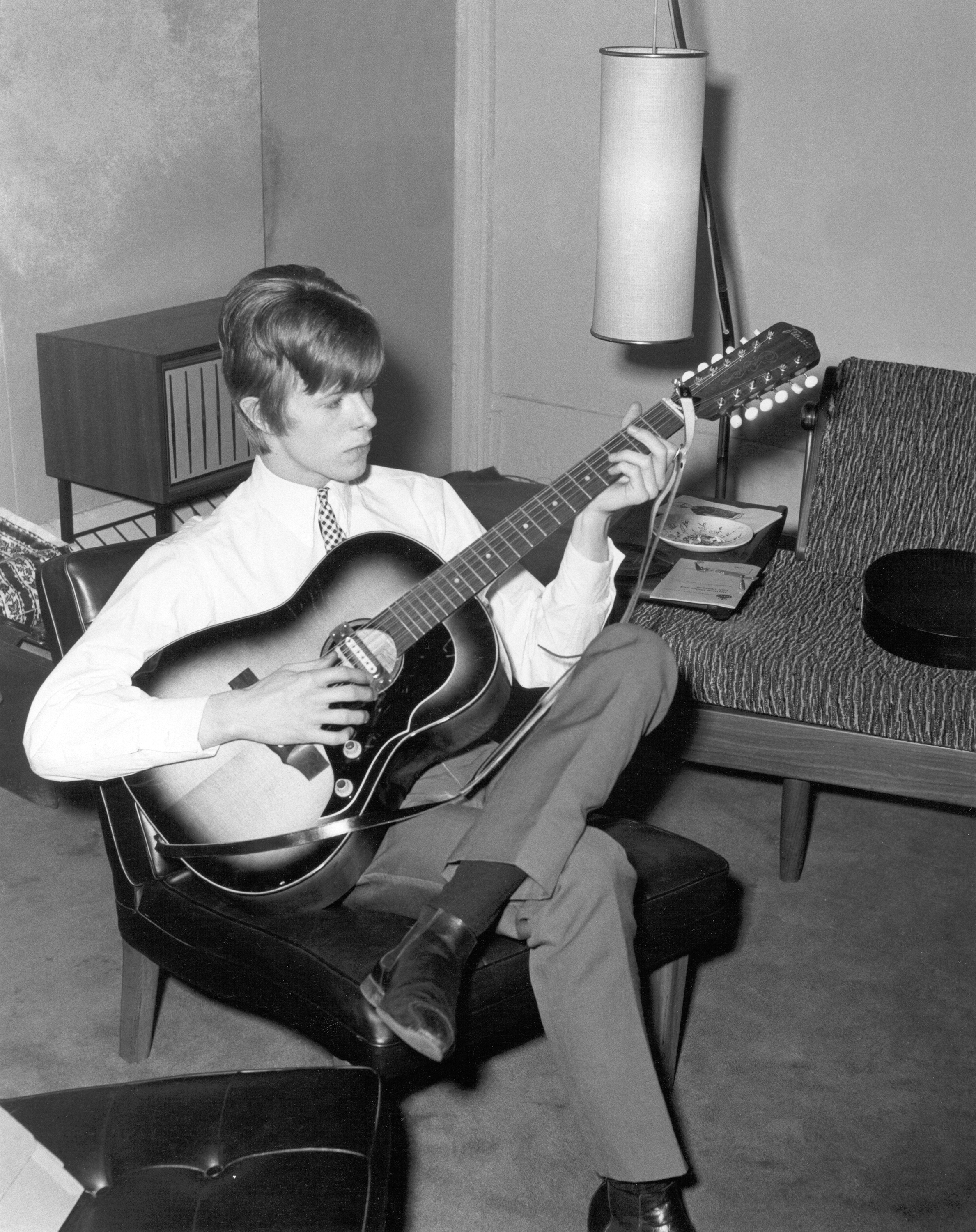 David Bowie during a portrait session in 1966 in London.