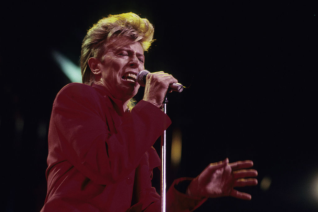 David Bowie performs in 1987 in New York City.