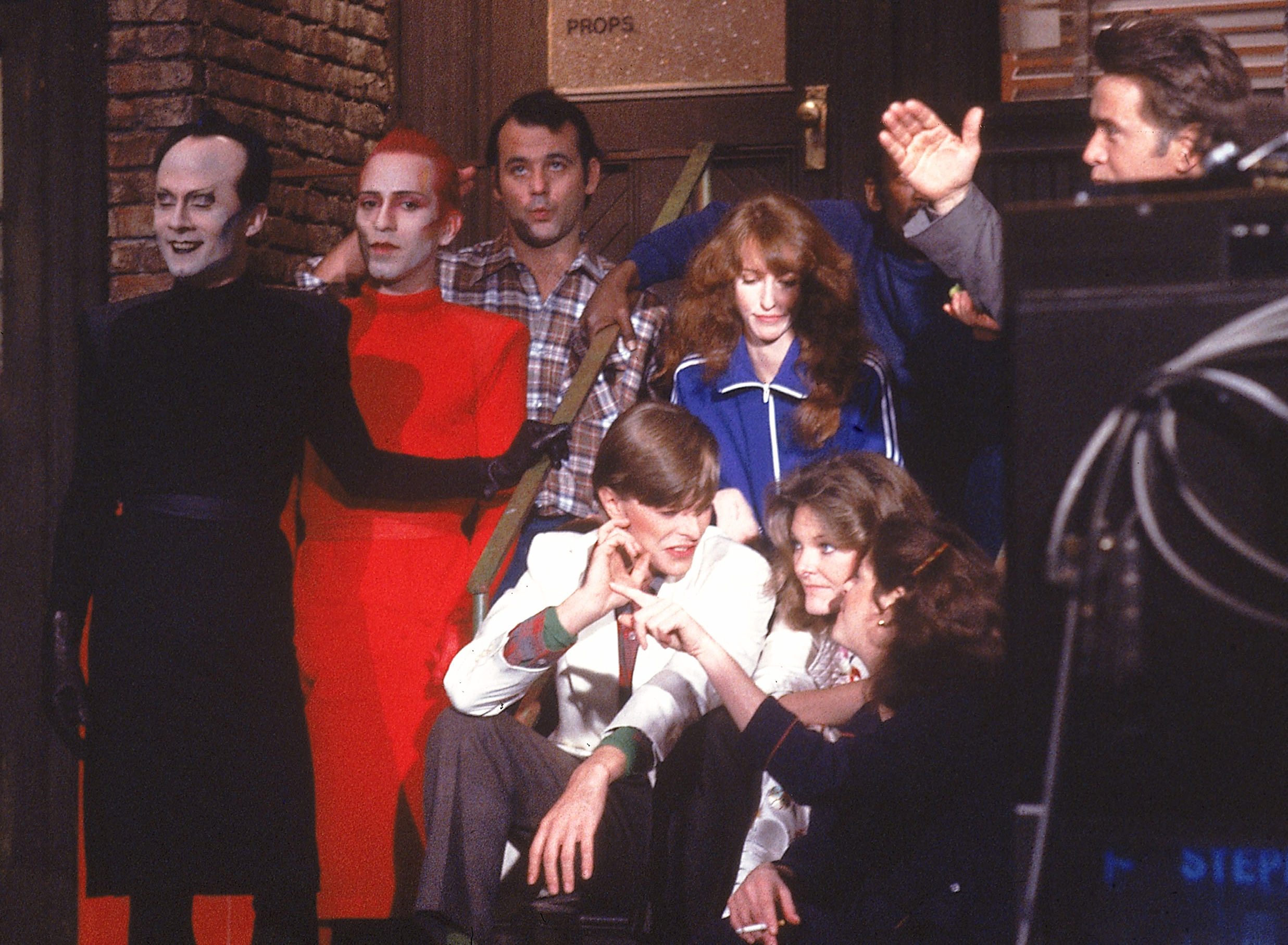 """<b>Klaus Nomi</b>, """"The Man Who Sold the World,"""" """"TVC15,"""" and """"Boys Keep Swinging"""" on <i>Saturday Night Live</i>, 1980."""