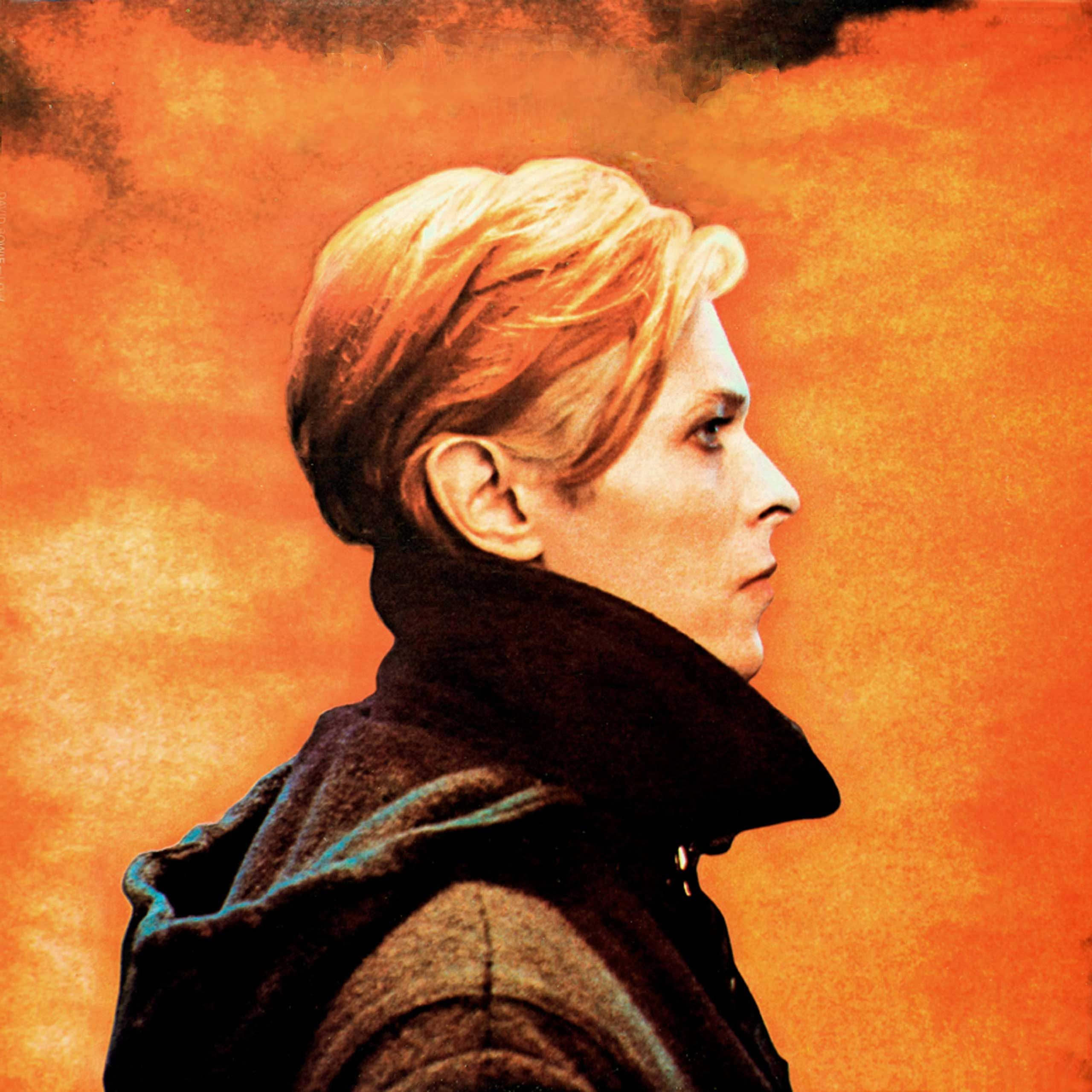 """David Bowie, 1975,  while making the film """"The Man Who Fell to Earth (1976). The picture is the album cover for LOW (1977)."""