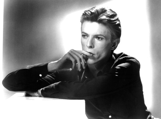 David Bowie poses for a portrait in 1976 by Michael Ochs