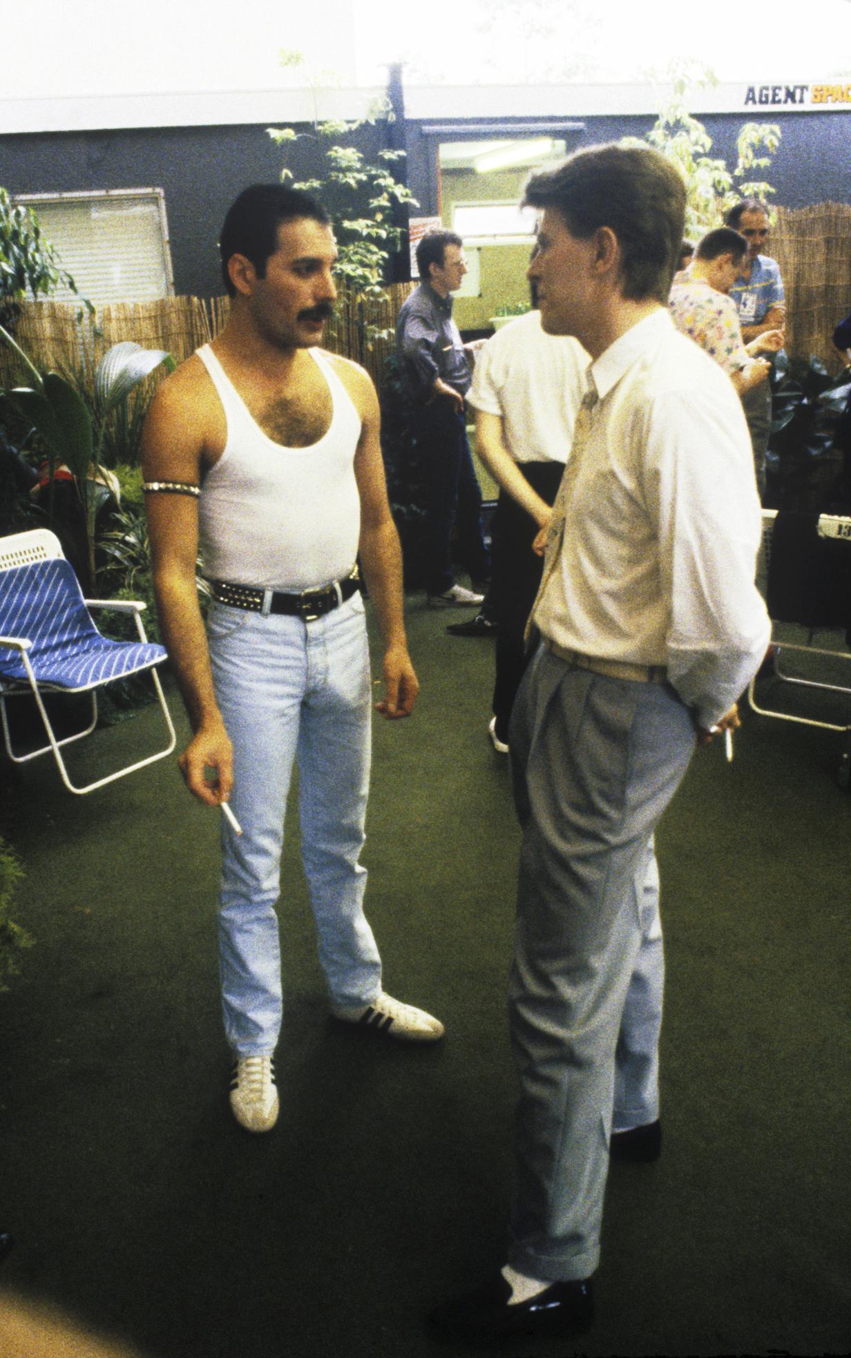 """<b>Queen</b>, """"Under Pressure,"""" 1982."""