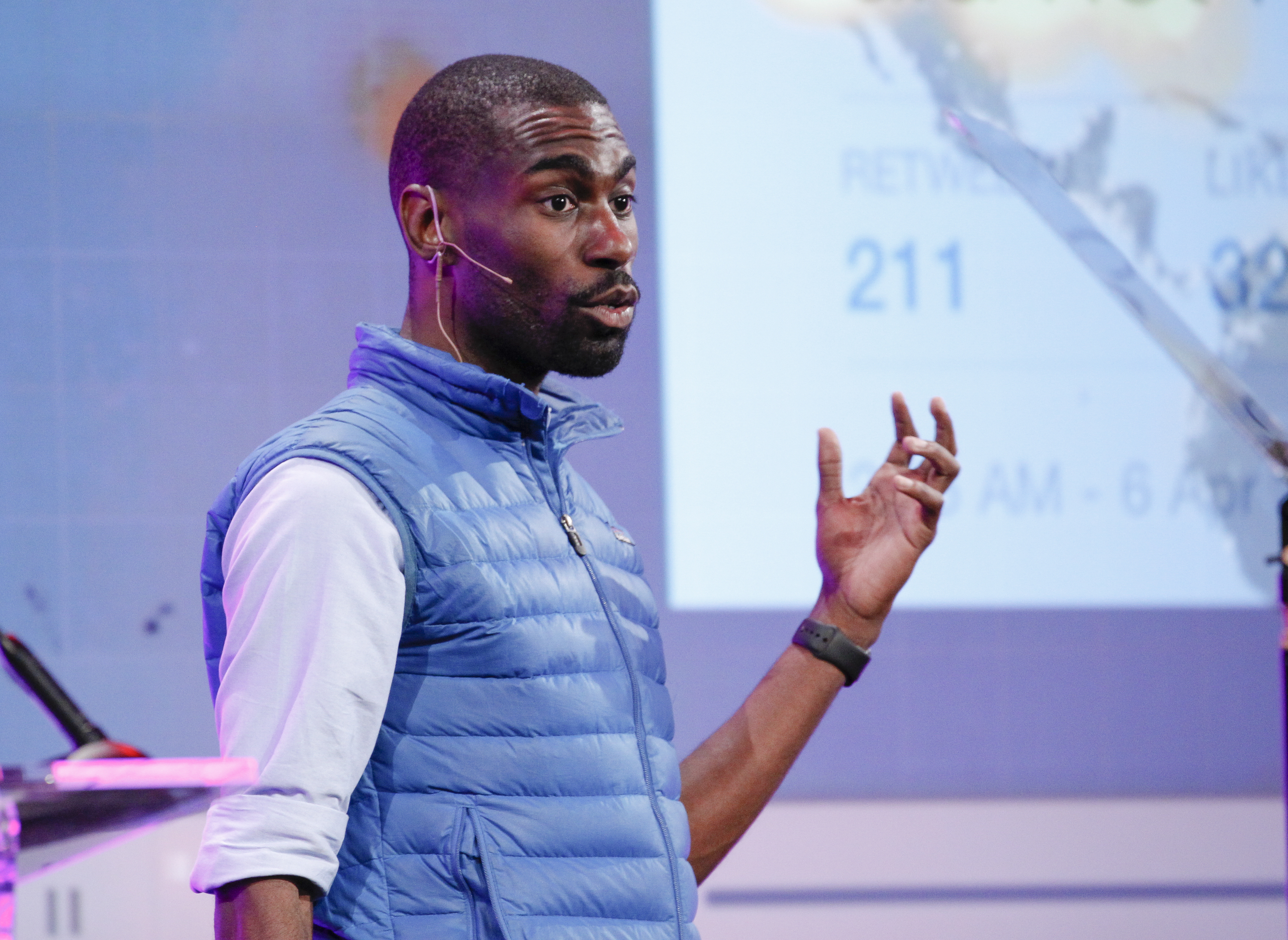 DeRay Mckesson speaks at the GLAAD Gala on Nov. 7, 2015 in San Francisco, CA.