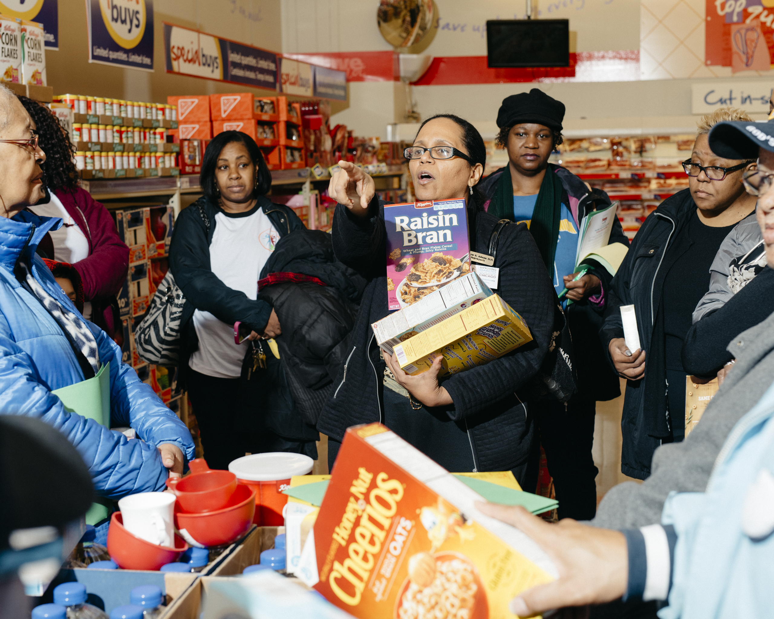 The South Side Diabetes Project teaches shoppers how to count carbohydrates