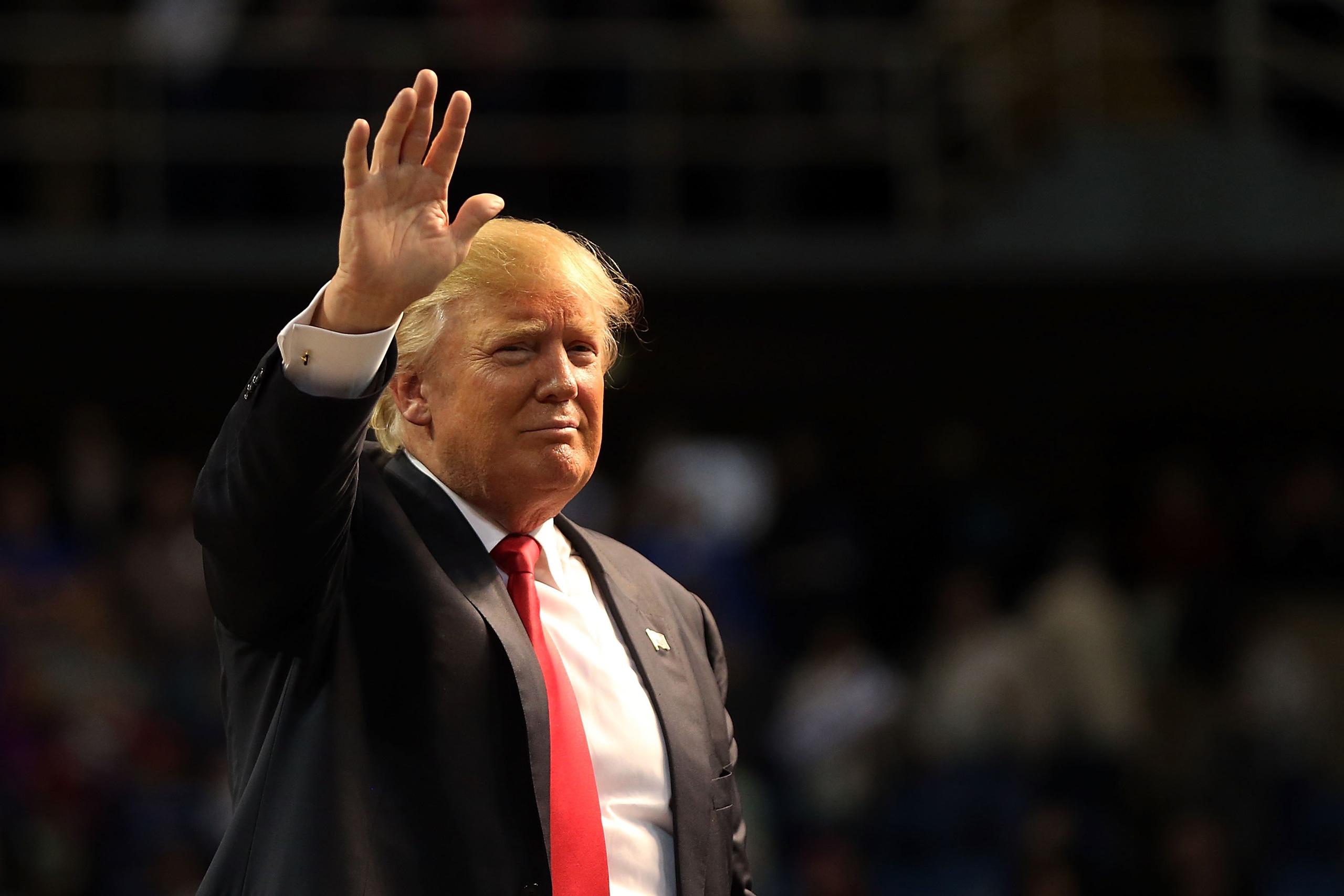 Donald Trump speaks at the Mississippi Coast Coliseum in Biloxi, Mississippi, on Jan.2, 2016.