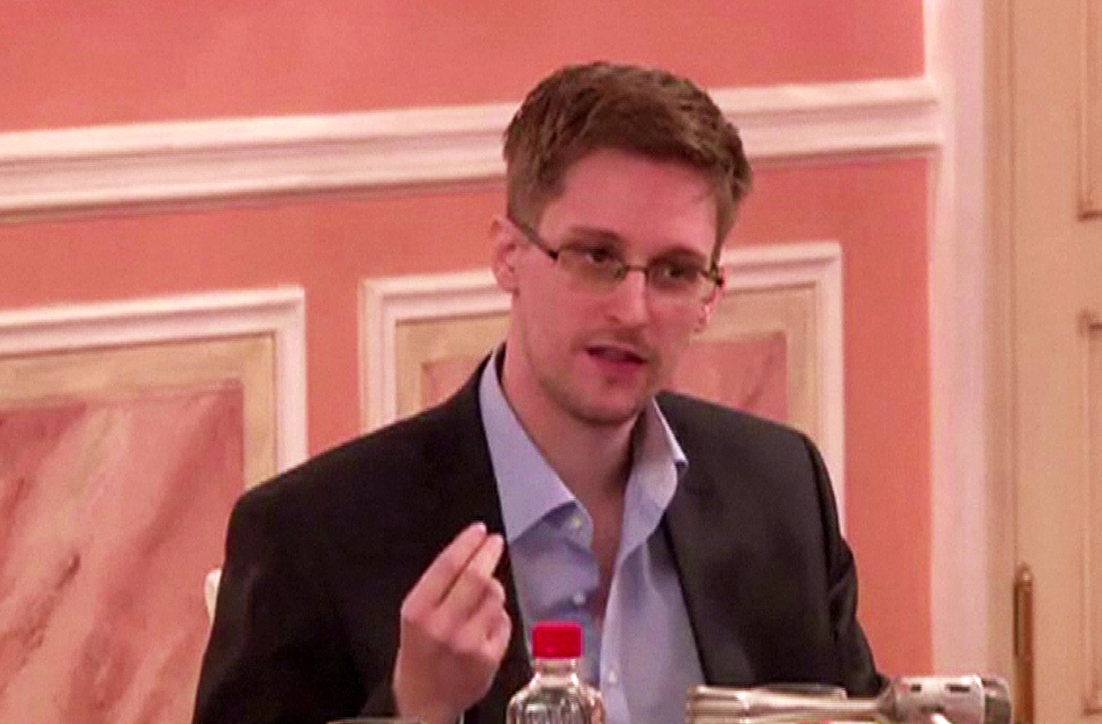 Edward Snowden is seen on October 9, 2013.