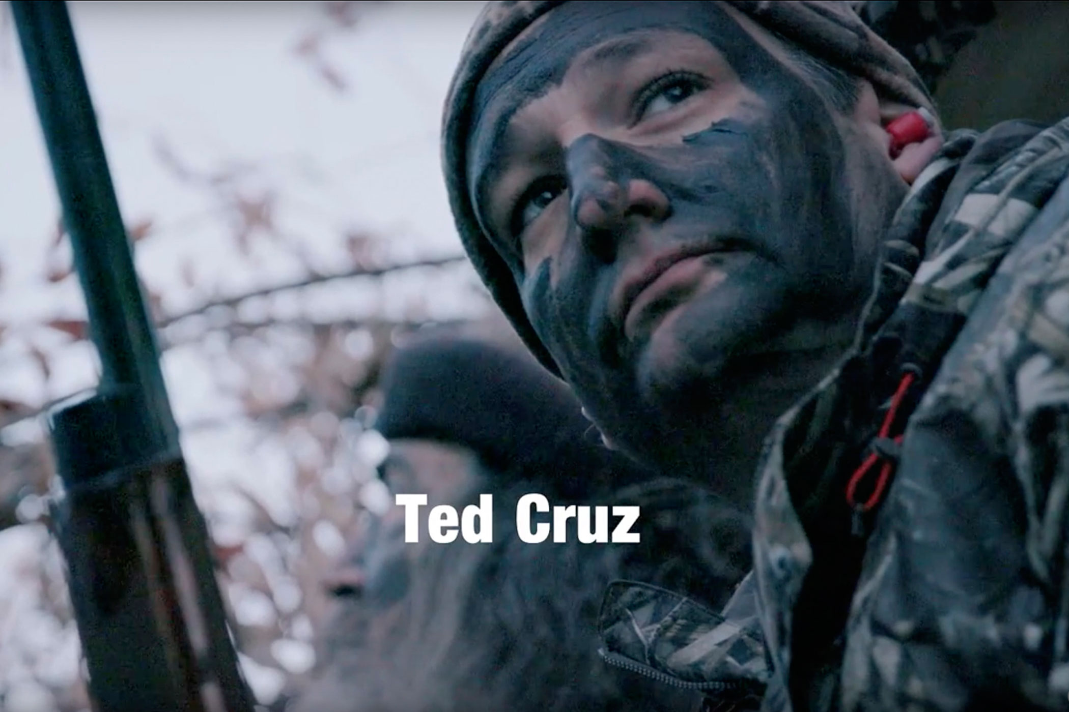 "This still image made from video provided by the Cruz campaign via YouTube shows presidential candidate Ted Cruz. In the video, Cruz is endorsed by ""Duck Dynasty"" star Phil Robertson."