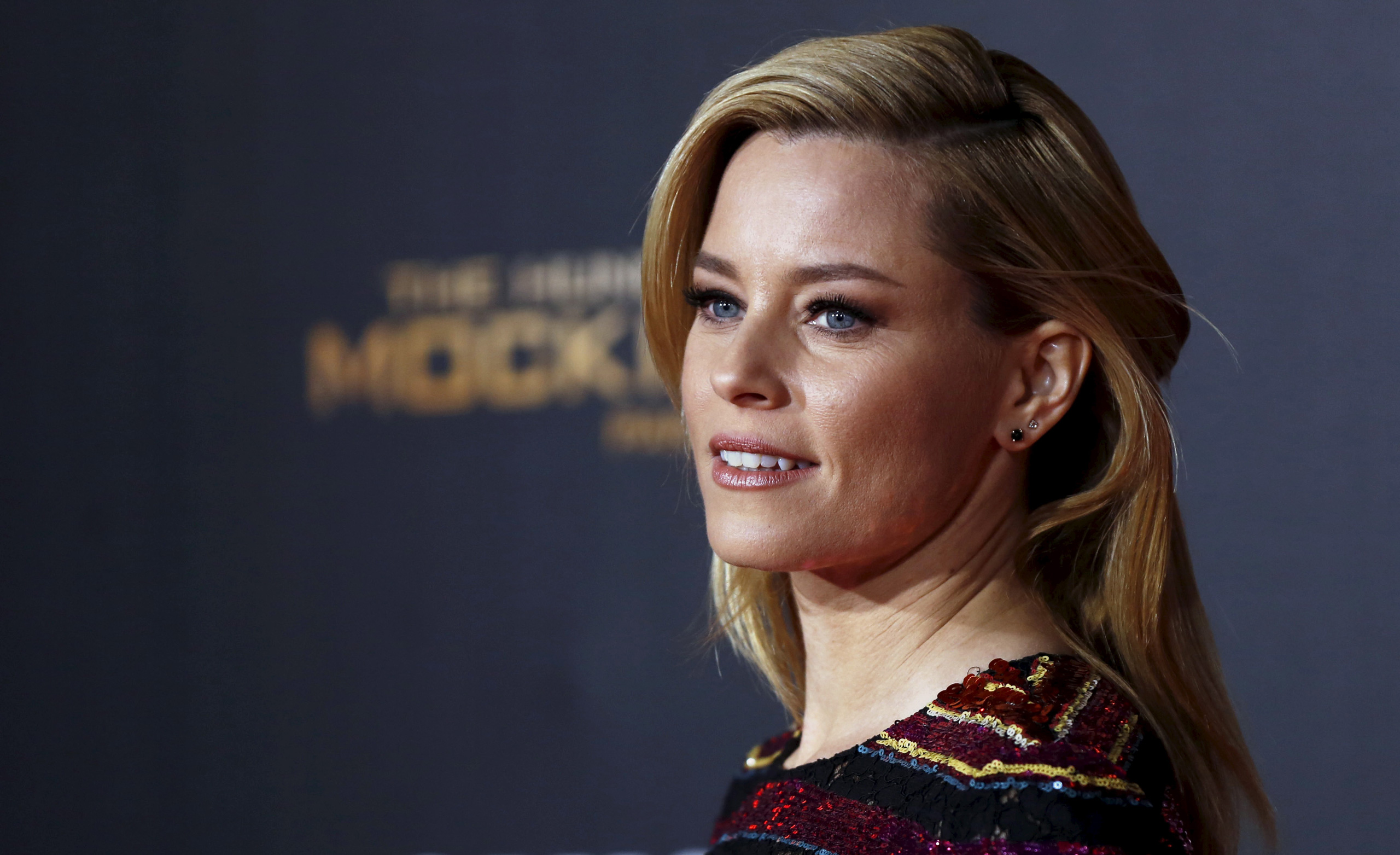 Elizabeth Banks poses at the premiere of  The Hunger Games: Mockingjay - Part 2  in Los Angeles on Nov. 16, 2015.
