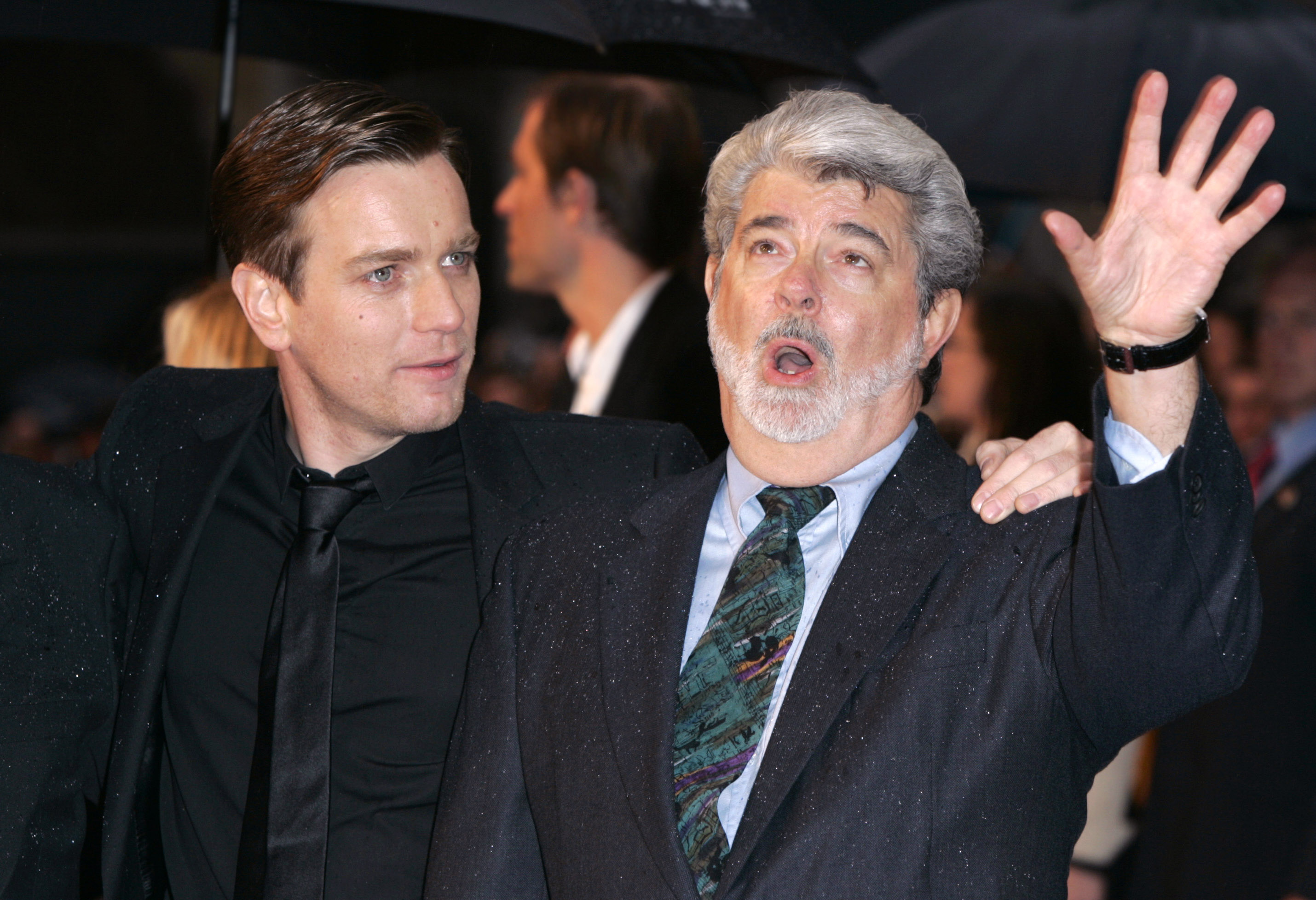 Ewan McGregor and George Lucas attend The Star Wars: Revenge Of The Sith UK  premiere in London.