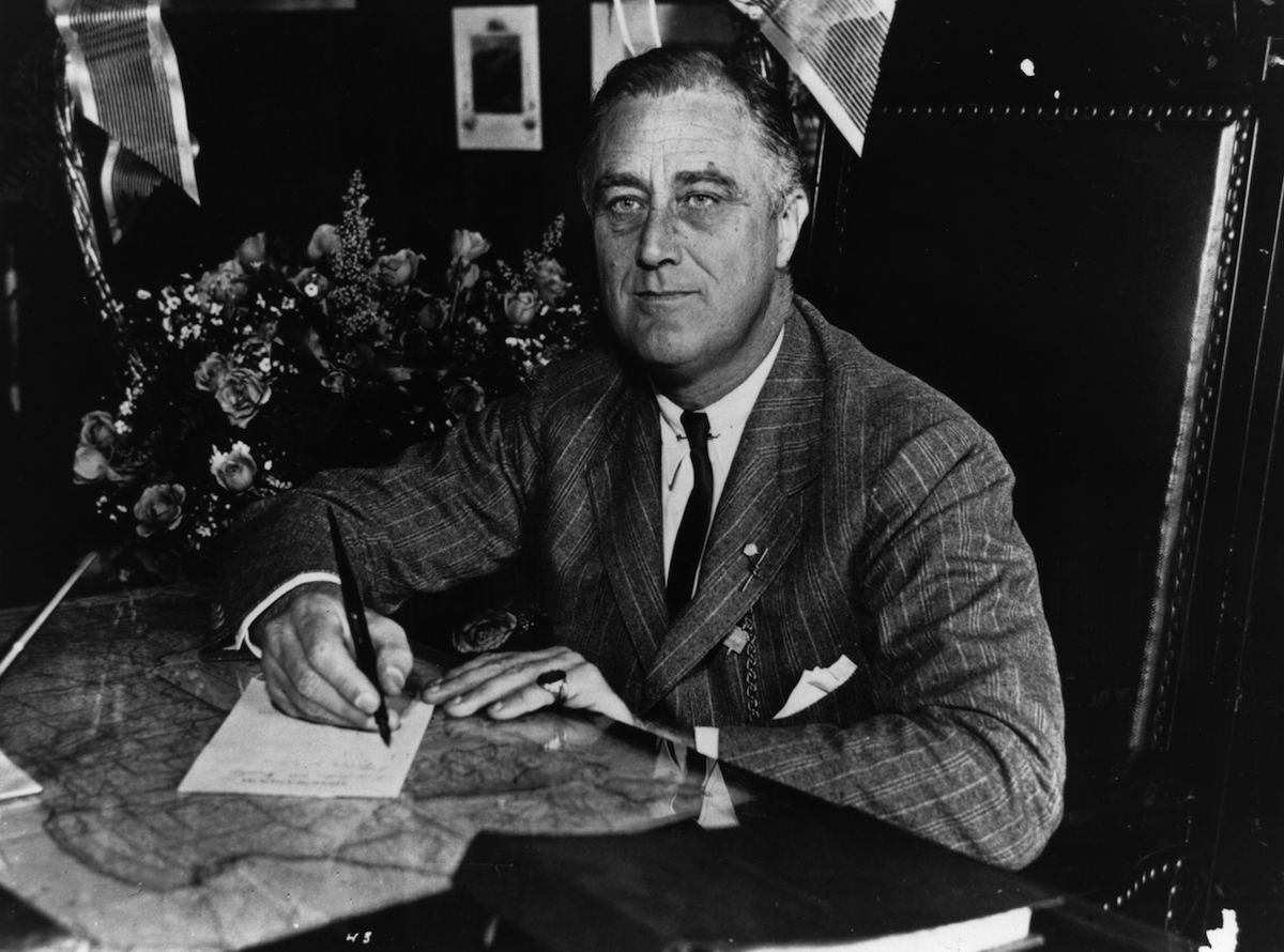 1936:  Franklin Delano Roosevelt (1882 - 1945) the 32nd President of the United States