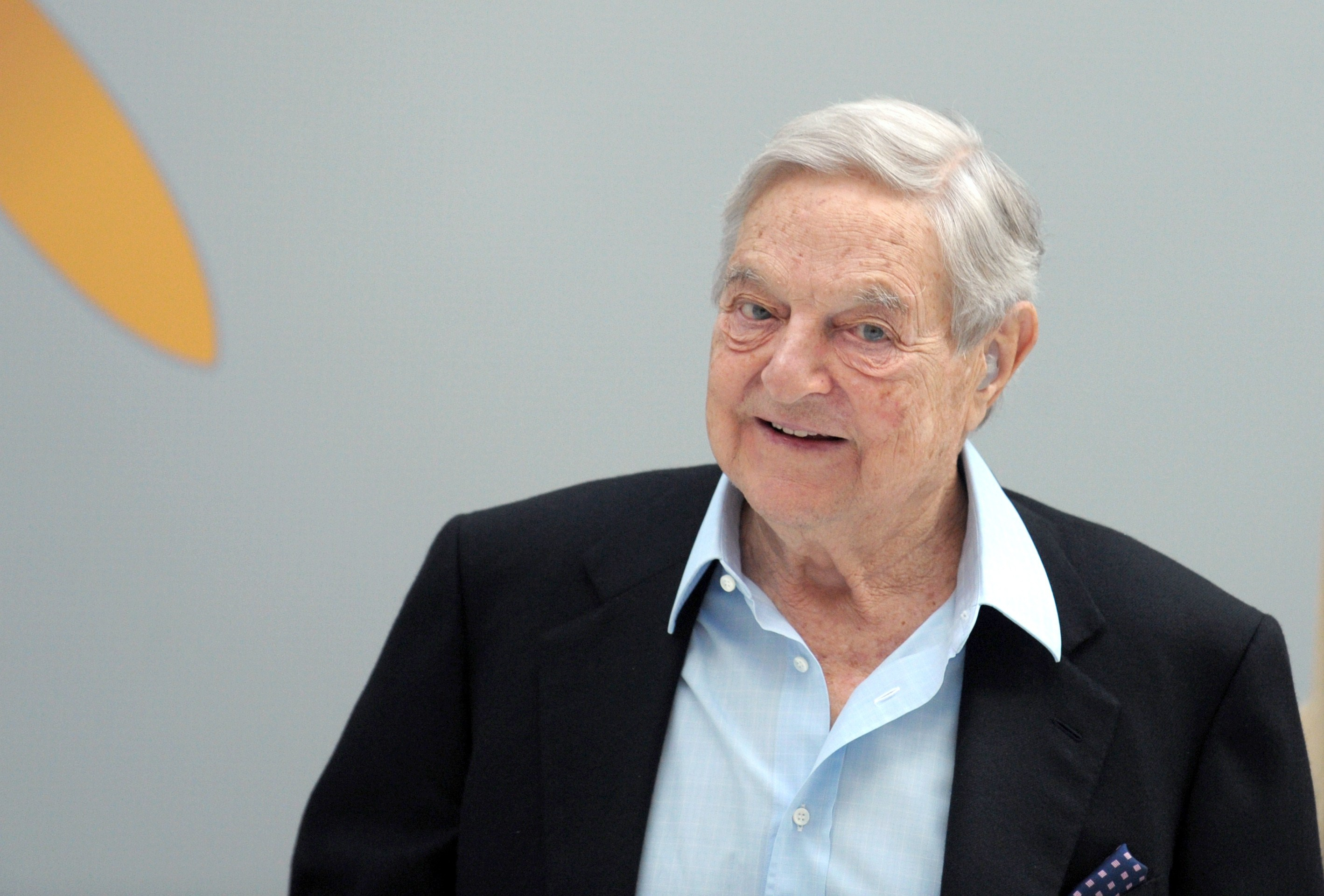 George Soros arrives to attend a session of the 6th annual conference of the Institute for new economic thinking (INET) at the OECD headquarters in Paris on April 9, 2015.