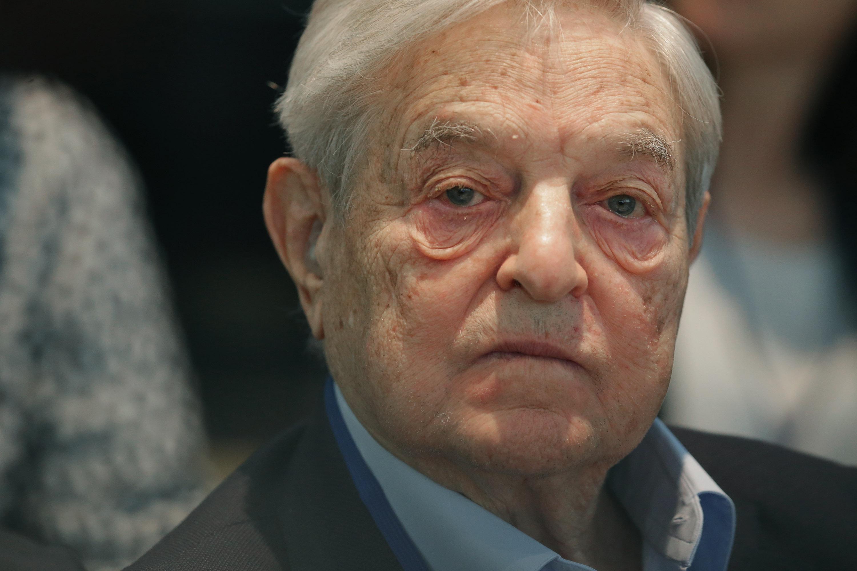 George Soros at the World Bank- International Monetary Fund Spring Meetings in Washington on April 17, 2015.