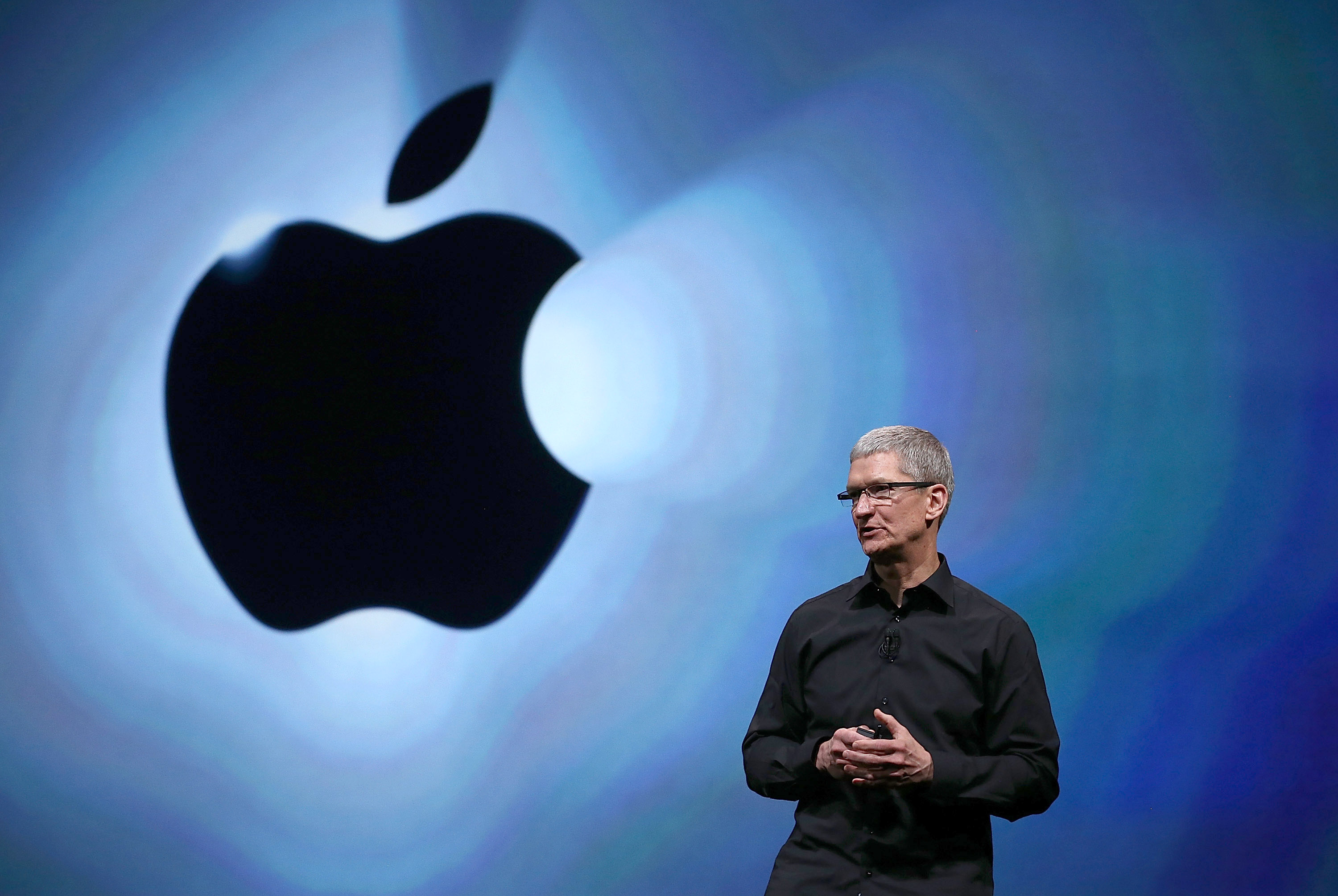 Apple CEO Tim Cook speaks during an Apple special event at the Yerba Buena Center for the Arts on September 12, 2012 in San Francisco, California.
