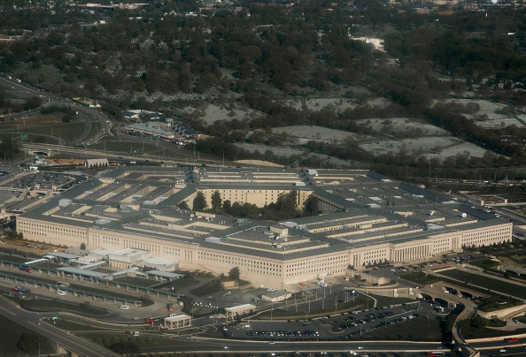 The Pentagon in Arlington, Virginia outside Washington, DC is seen in this aerial photograph, April 23, 2015. AFP PHOTO / SAUL LOEB        (Photo credit should read SAUL LOEB/AFP/Getty Images)