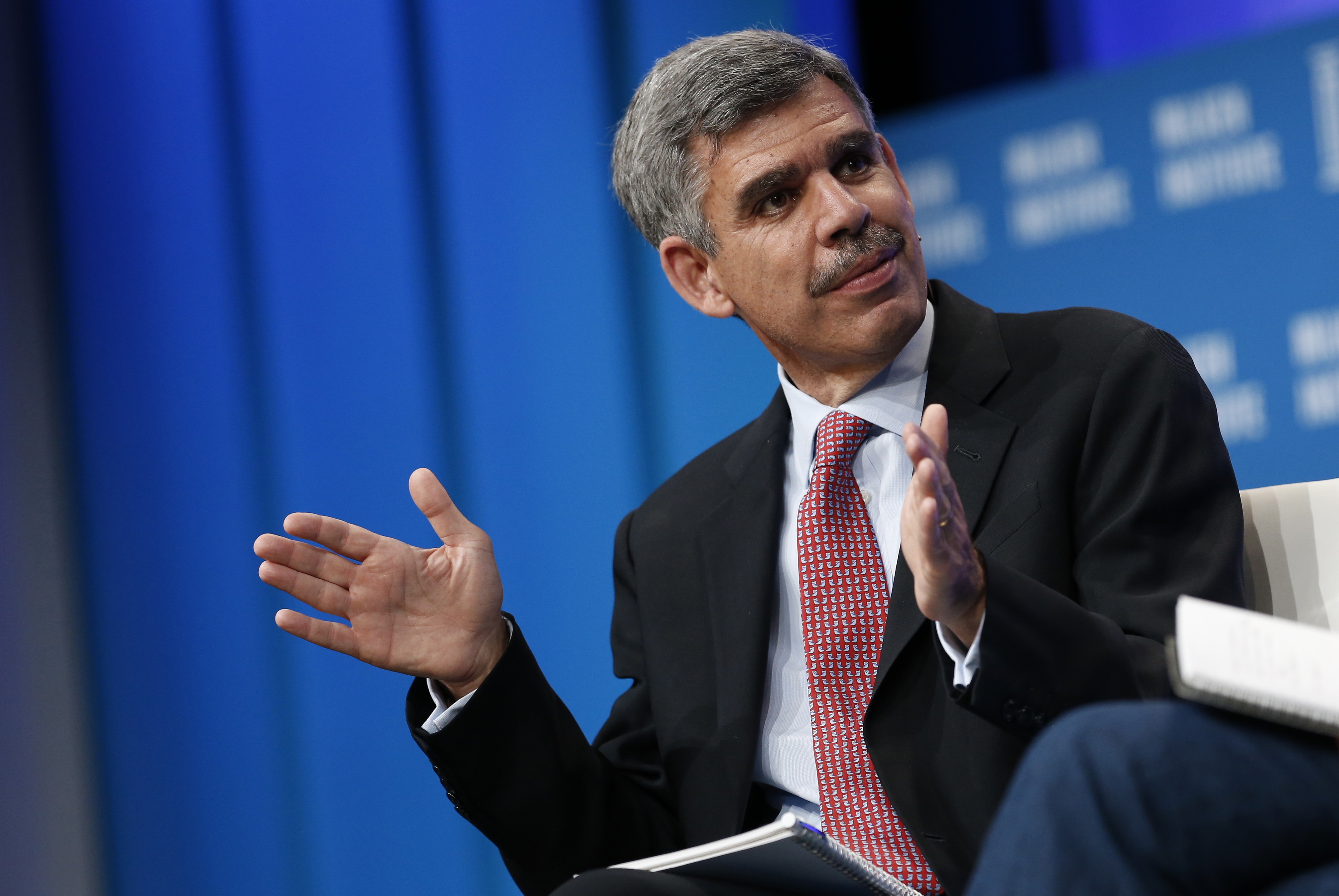 Mohamed El-Erian, chief economic advisor at Allianz SE, speaks during the annual Milken Institute Global Conference in Beverly Hills, California, U.S., on Monday, April 27, 2015.