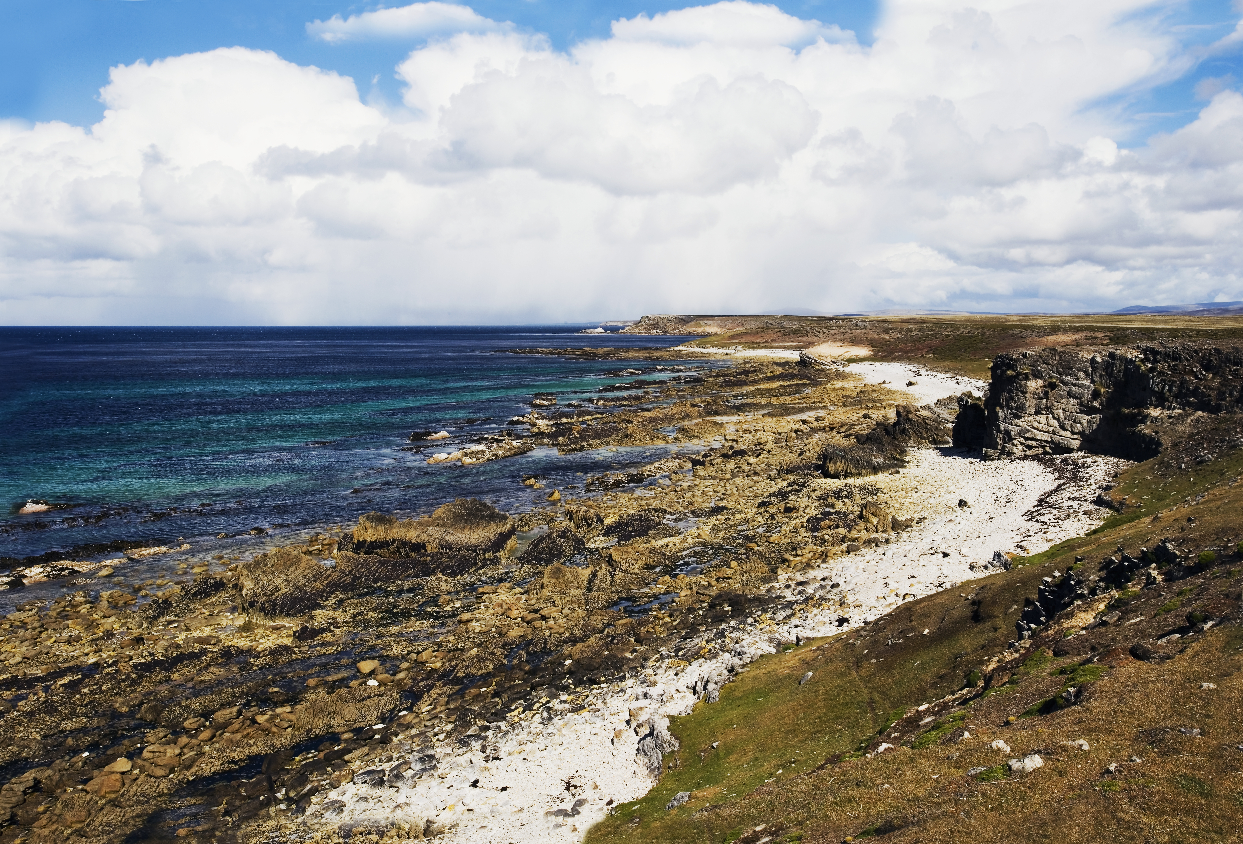 The northeast coast of Pebble Island, Falkland Islands, British Overseas Territory