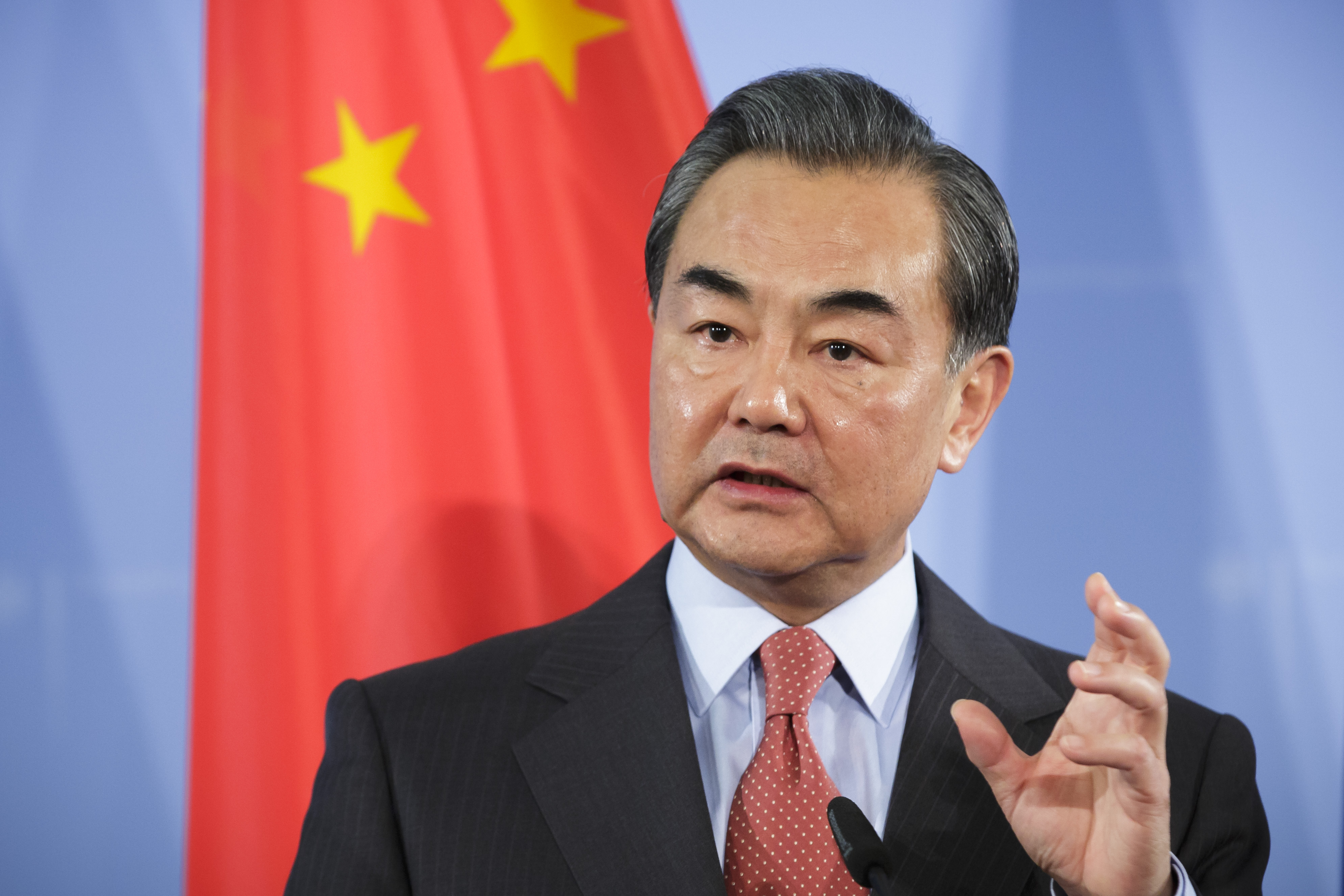 China's Foreign Minister Wang Yi on Dec. 19, 2015, in Berlin