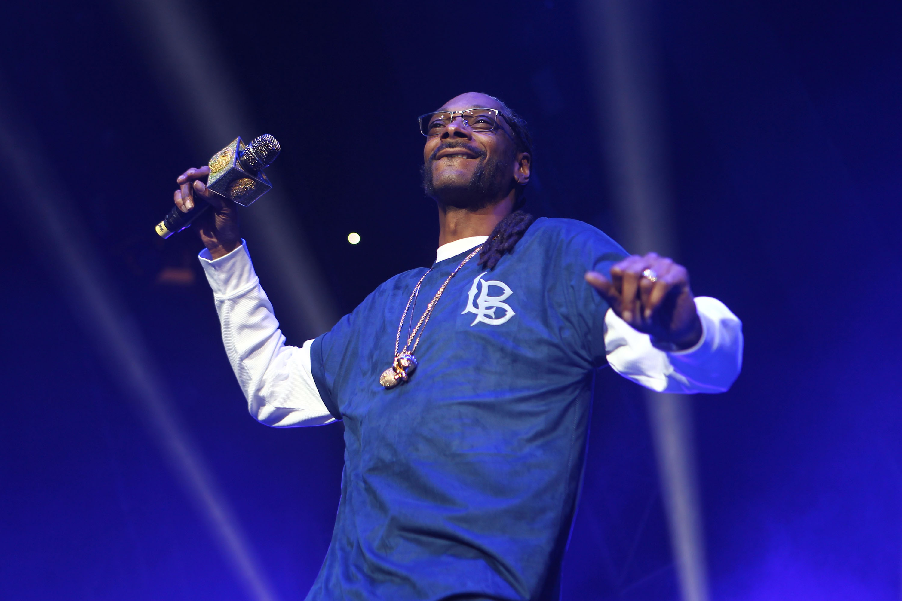 Snoop Dogg performed at the Mega 96.3 FM Calibash 2016 at Staples Center on January 24, 2016 in Los Angeles, California.
