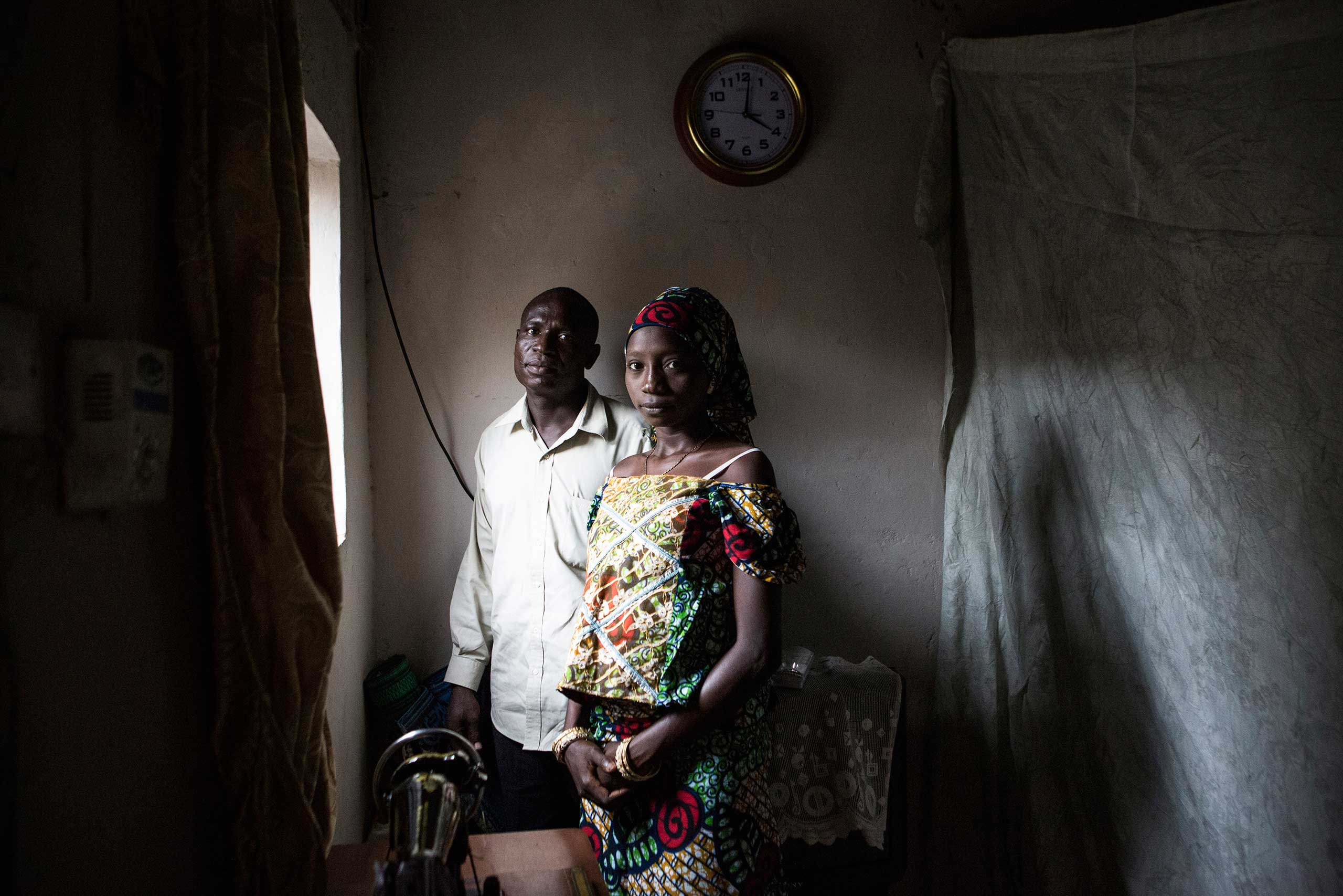 Ahmed Adama, age 35, had wanted to marry Jamaila Lawan, age 22, for more than a year when he heard about the mass wedding program organized by the Hisbah, Kano, Northern Nigeria, Oct. 7, 2013.