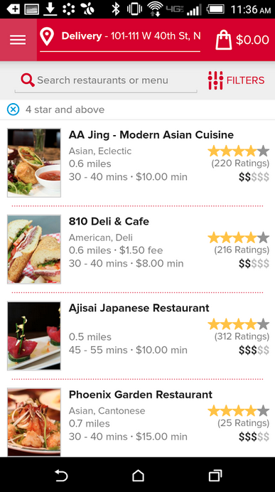 GrubHub/Google Play