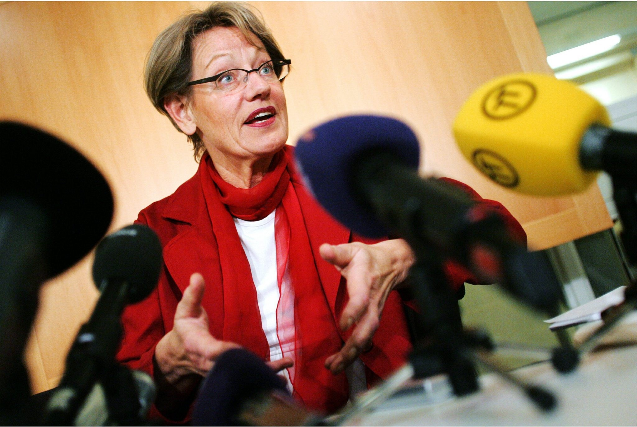 Gudrun Schyman, a Swedish politician and spokeswoman for the Feminist Initiative, pictured here on Dec. 7, 2004.