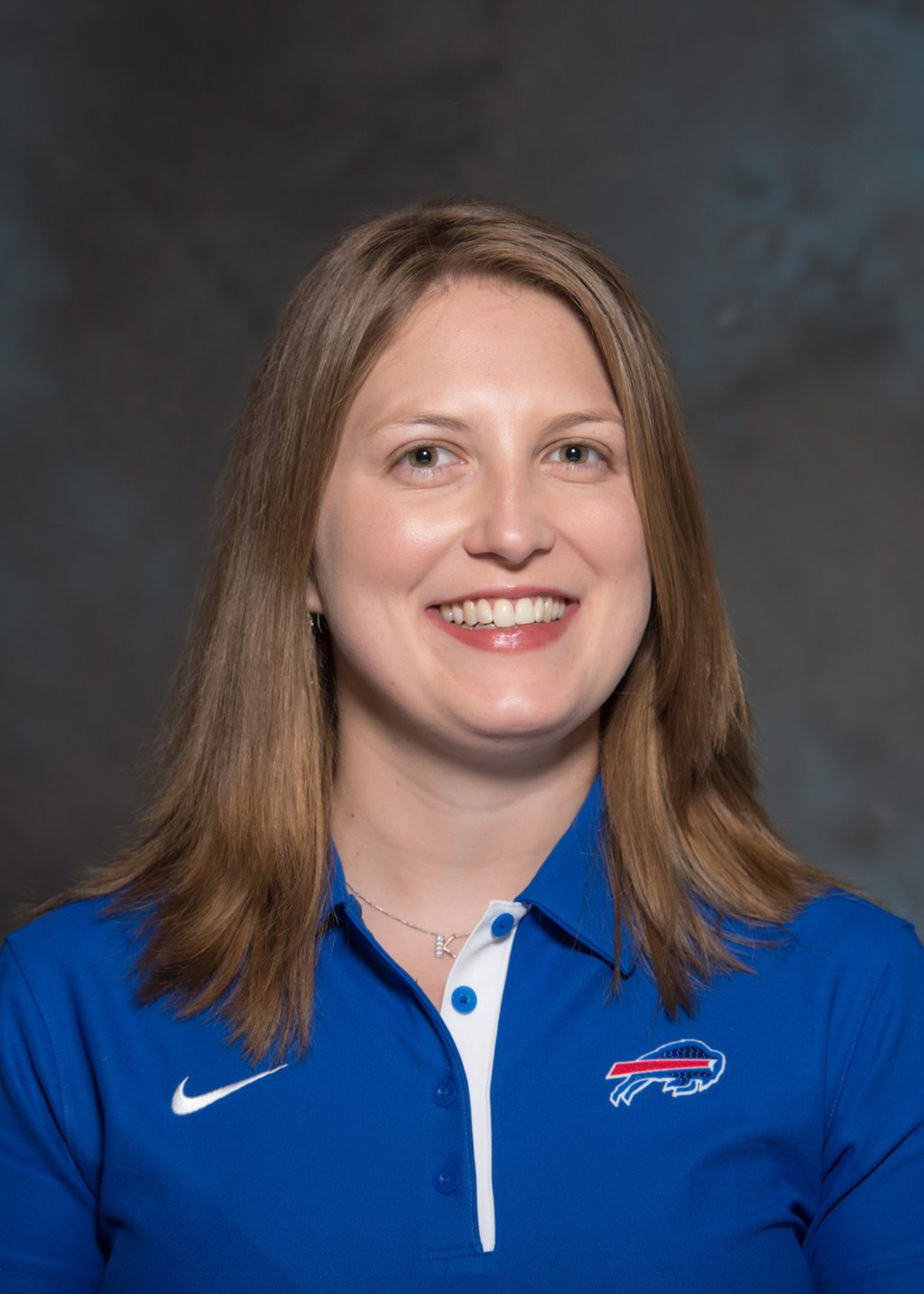 This photo provided by the Buffalo Bills shows Kathryn Smith, who has been announced as the team's new special teams quality control coach on Jan. 20 2016.