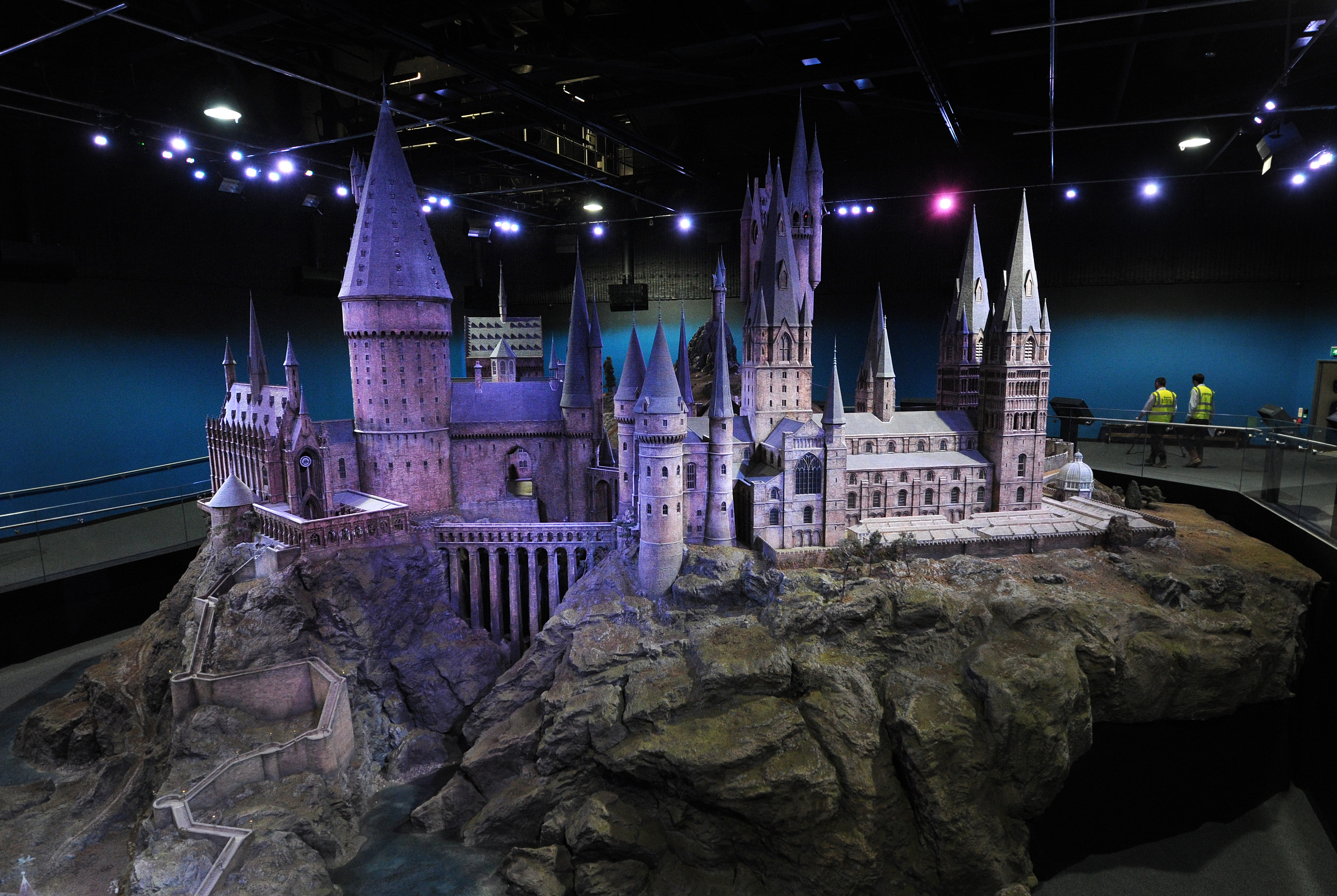 A general view shows a scale model of Hogwarts School of Witchcraft and Wizardry during a preview of the Warner Bros Harry Potter studio tour  The Making of Harry Potter  in north London on March 26, 2012.