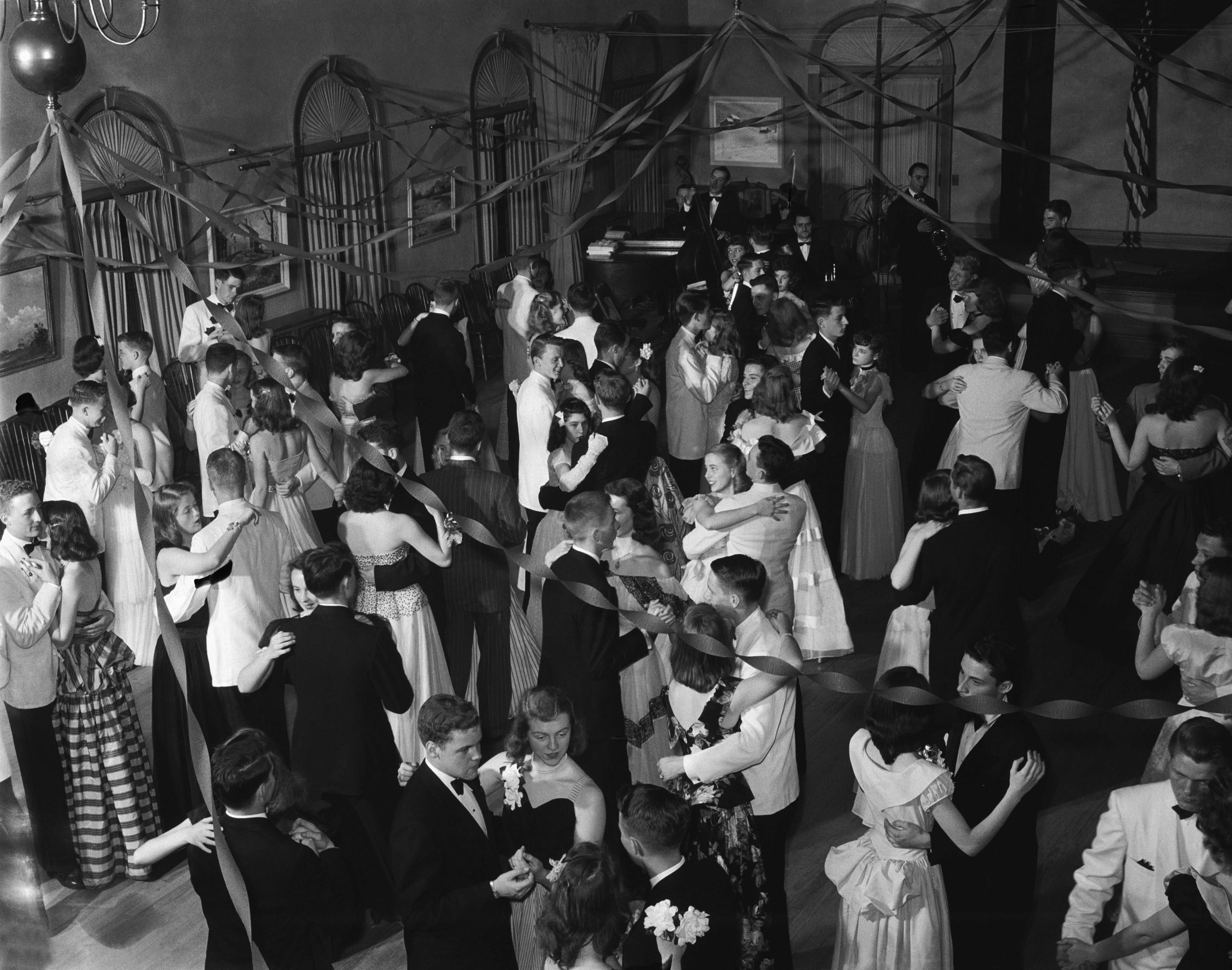 A 1950s high school dance.