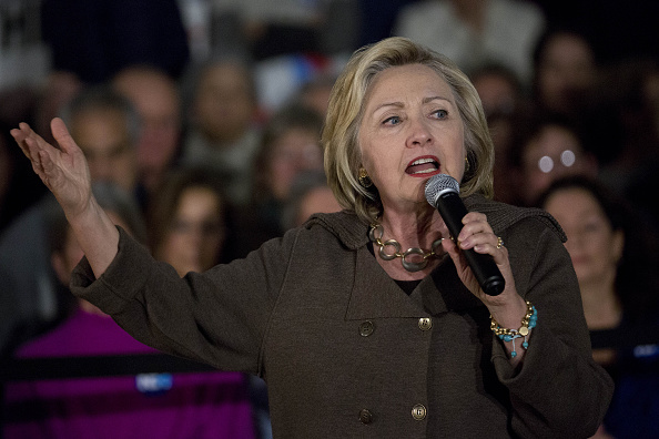 Hillary Clinton, former Secretary of State and 2016 Democratic presidential candidate, speaks during a town hall meeting at Keene High School in Keene, New Hampshire, U.S., on Sunday, Jan. 3, 2016.