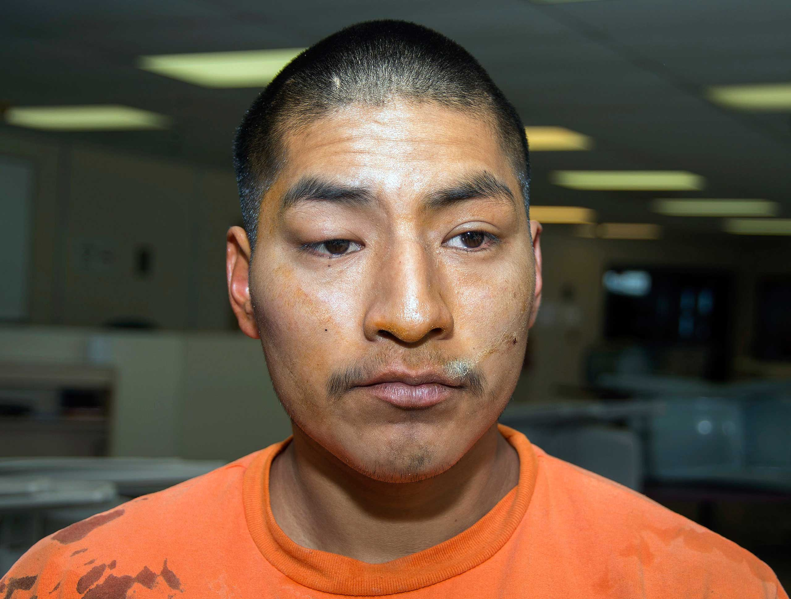 This Jan. 30, 2014, photo provided by the Arizona Department of Corrections shows inmate Jacob Harvey, accused of attacking a state prison teacher in Florence, Ariz. (Arizona Department of Corrections—AP)