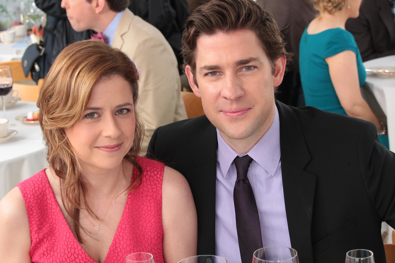 The Office  Finale  Episode 924/925 -Jenna Fischer as Pam Beesly Halpert, John Krasinski as Jim Halpert