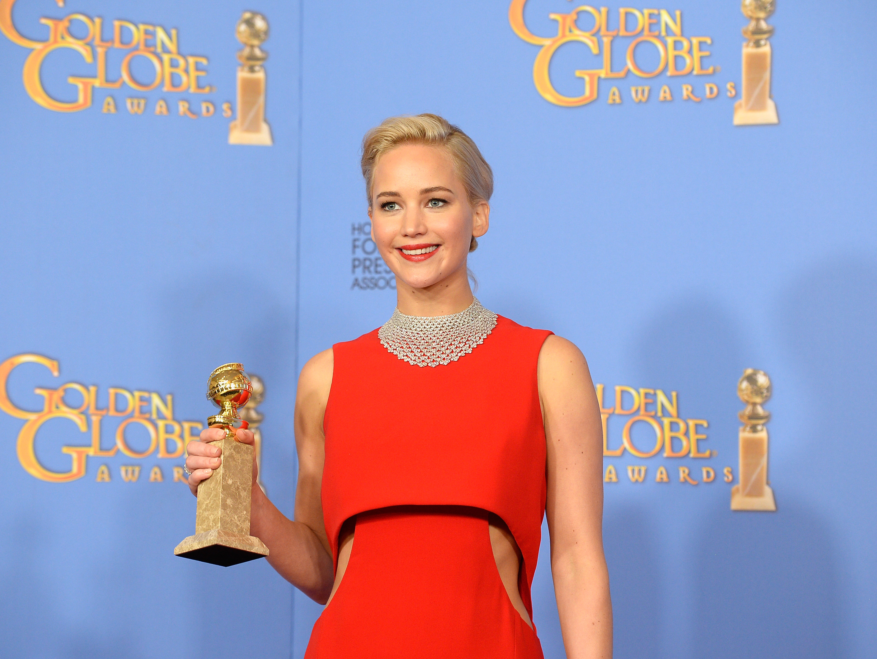 Jennifer Lawrence at the 73rd Annual Golden Globe Awards on January 10, 2016.