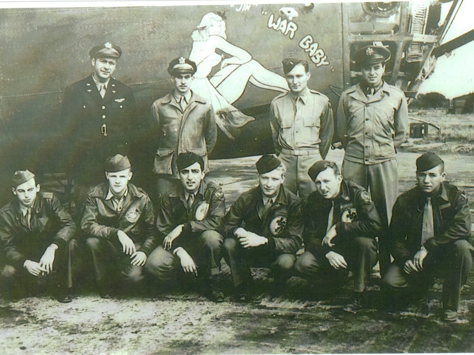 "A photograph of the ten airmen aboard the WWII bomber ""Jerk's Natural,"" which disappeared over Austria on October 1, 1943. The photo led journalist Gregg Jones on a lifetime investigation to reconstruct how the men lived and how they died."