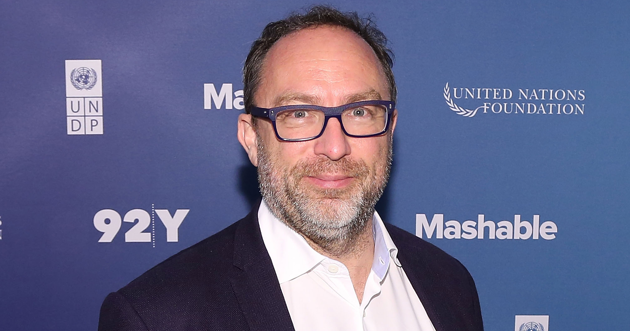 Wikipedia founder Jimmy Wales is seen on Sept. 27, 2015 in New York City.