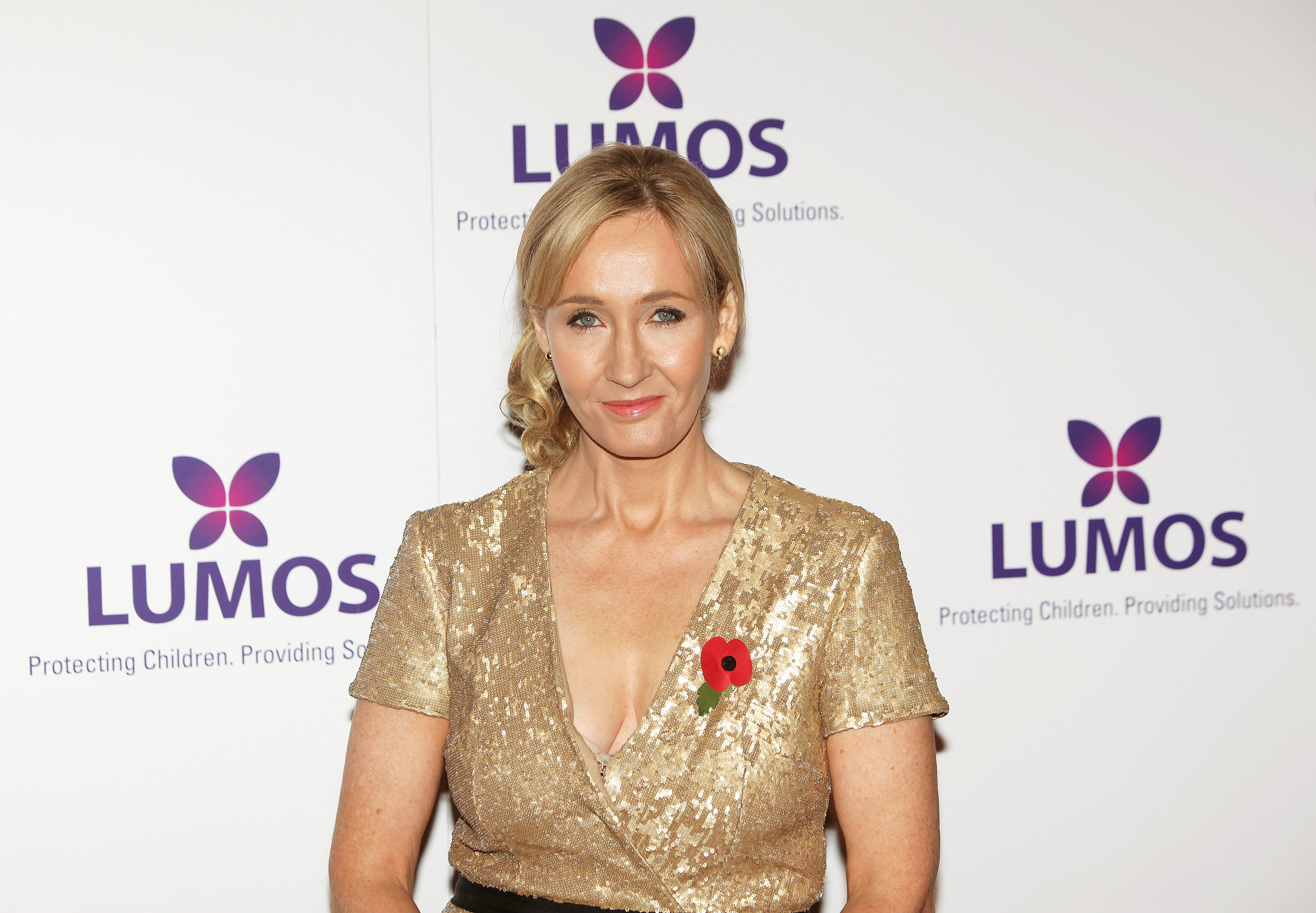 J.K. Rowling attends a fundraising event for her nonprofit organization, Lumos, in 2013.