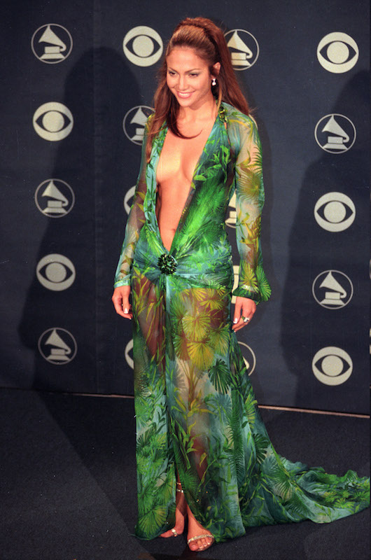 Jennifer Lopez at the Staples Center in Los Angeles for the 2000 Grammy Awards