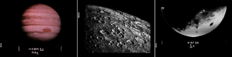 Jupiter, Mercury and Mars.
