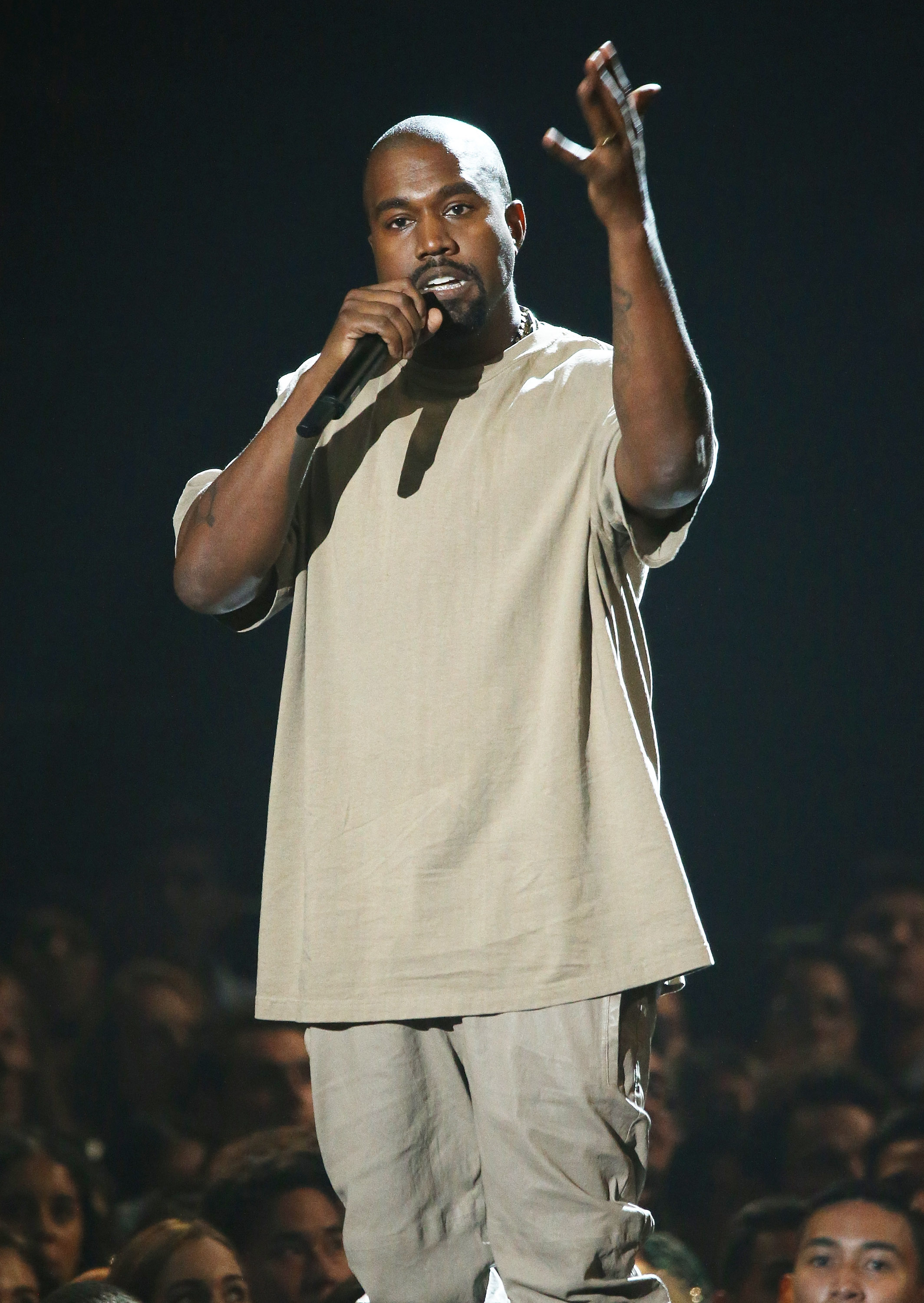 Kanye West at the 2015 MTV Video Music Awards in Los Angeles on Aug. 30, 2015.