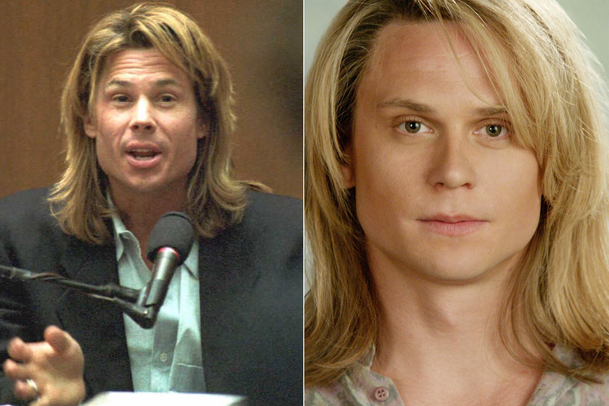 Left: Witness Kato Kaelin; Right: Billy Magnussen.