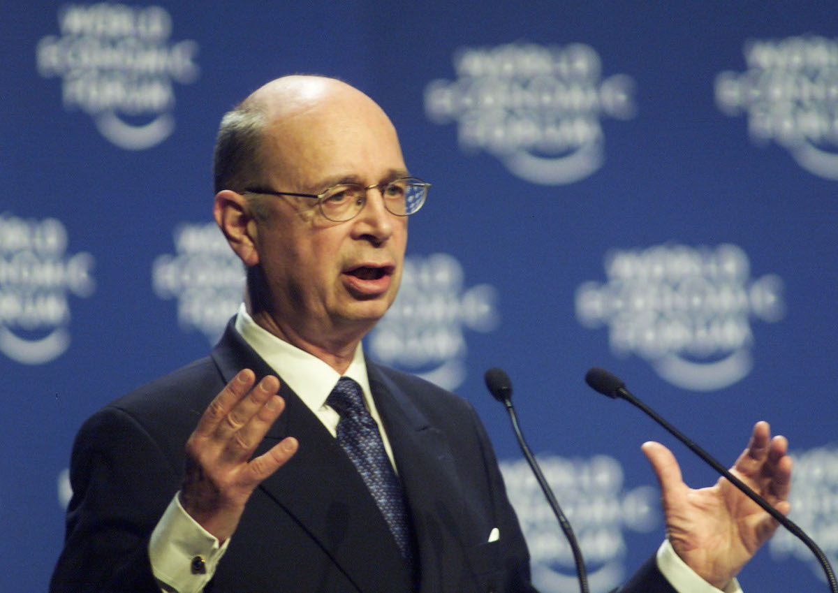 Founder and President of the World Economic Forum, Klaus Schwab, in Davos, Switzerland, Jan. 27, 2000.