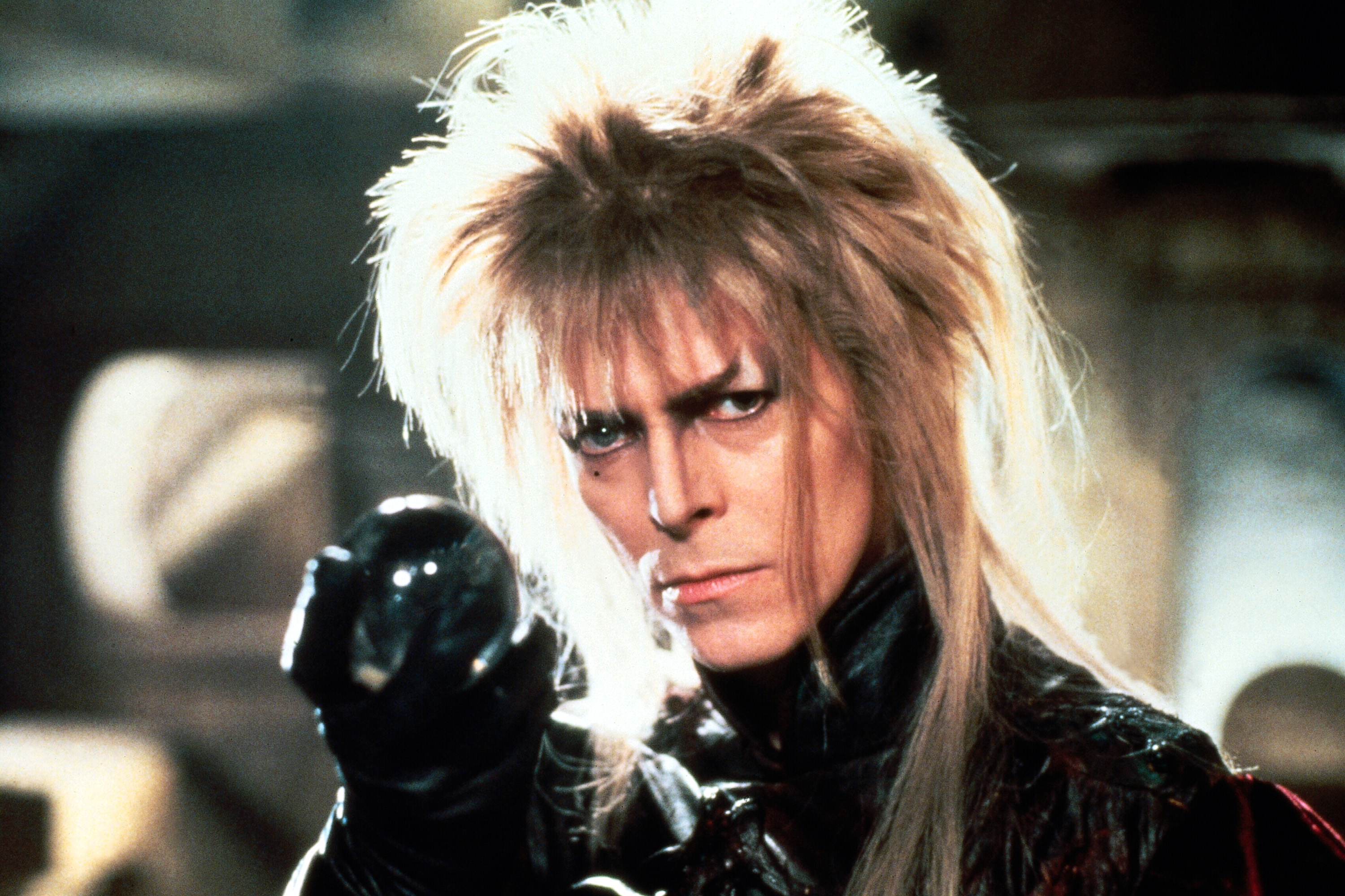 David Bowie as Jareth, the Goblin King in Labyrinth in 1986.