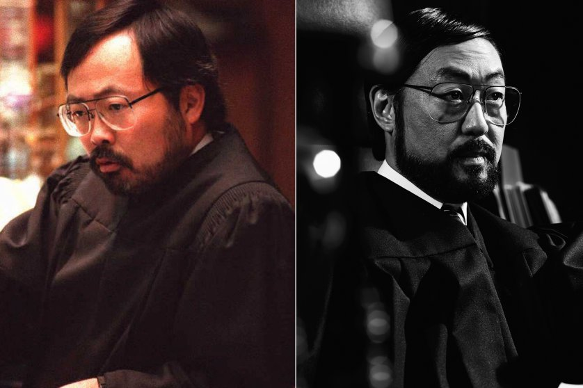 Judge Lance Ito, left, and Kenneth Choi, right.