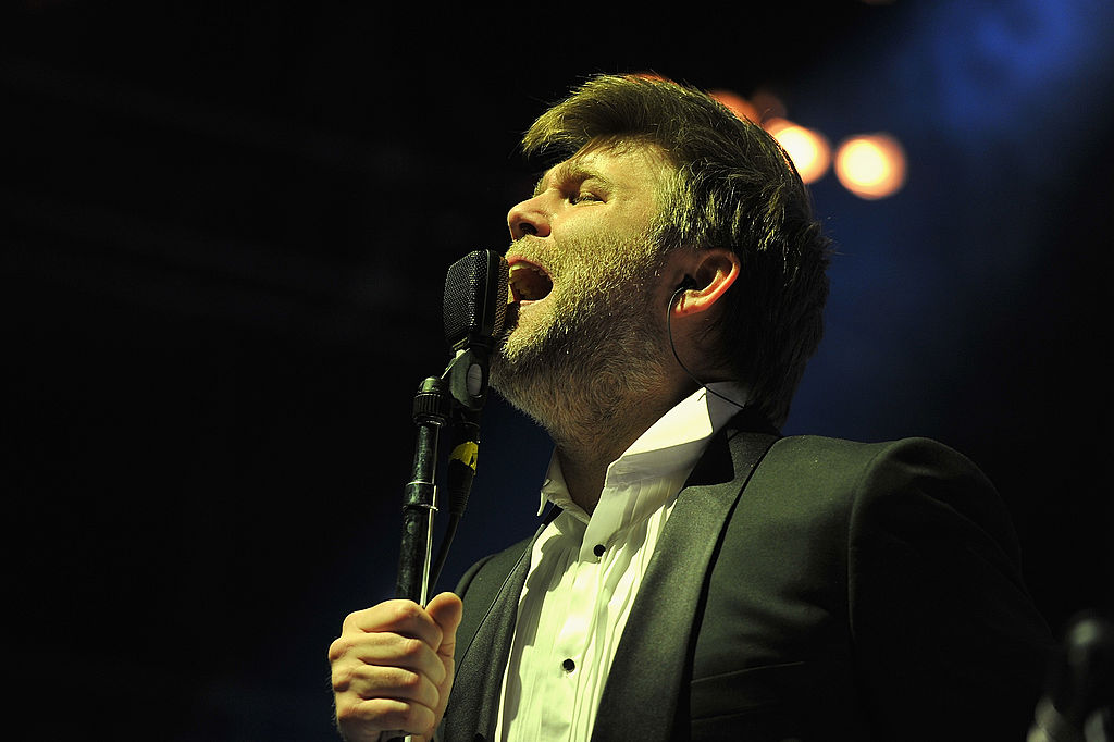 LCD Soundsystem performs at Madison Square Garden on April 2, 2011 in New York City.