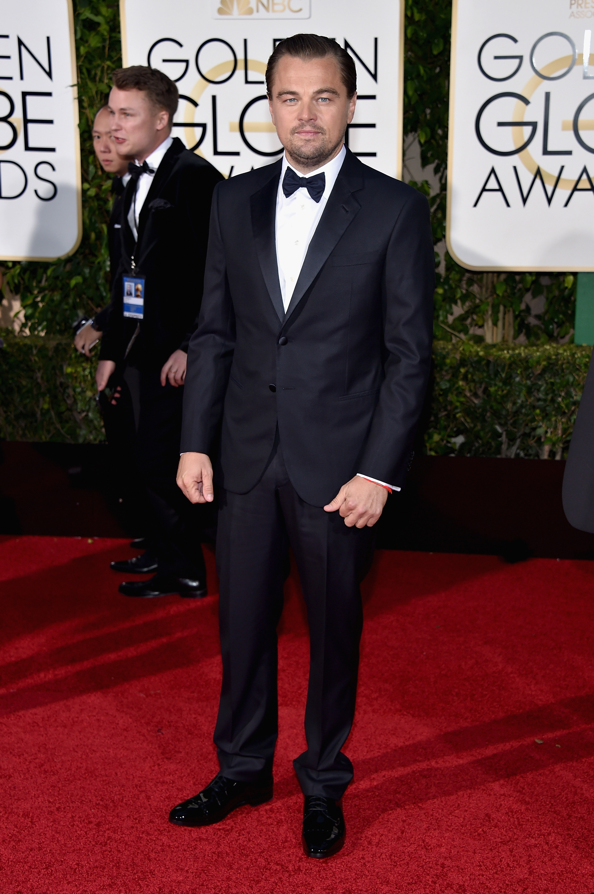 Leonardo DiCaprio arrives to the 73rd Annual Golden Globe Awards on Jan. 10, 2016 in Beverly Hills.