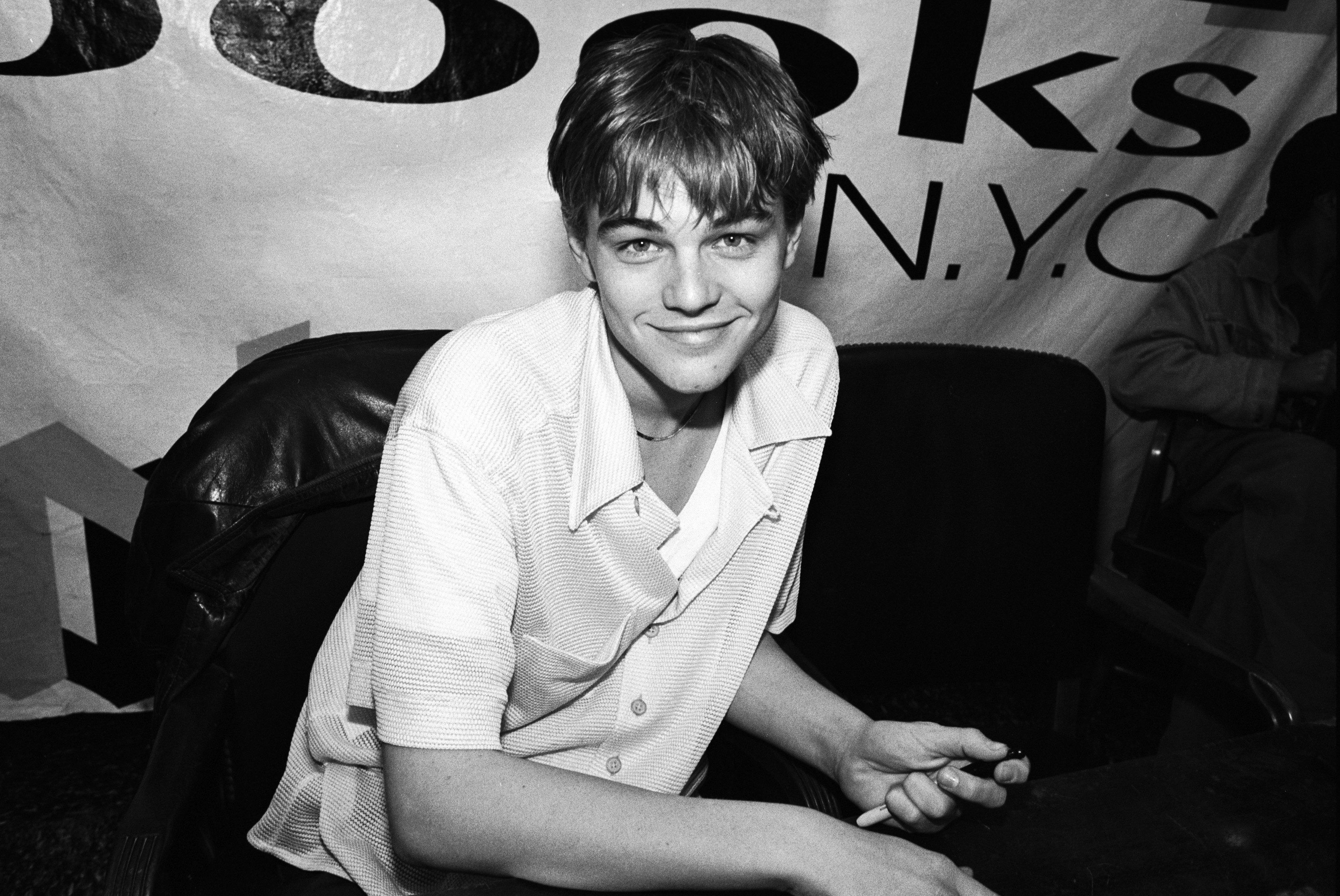Leonardo DiCaprio in New York City in 1995.