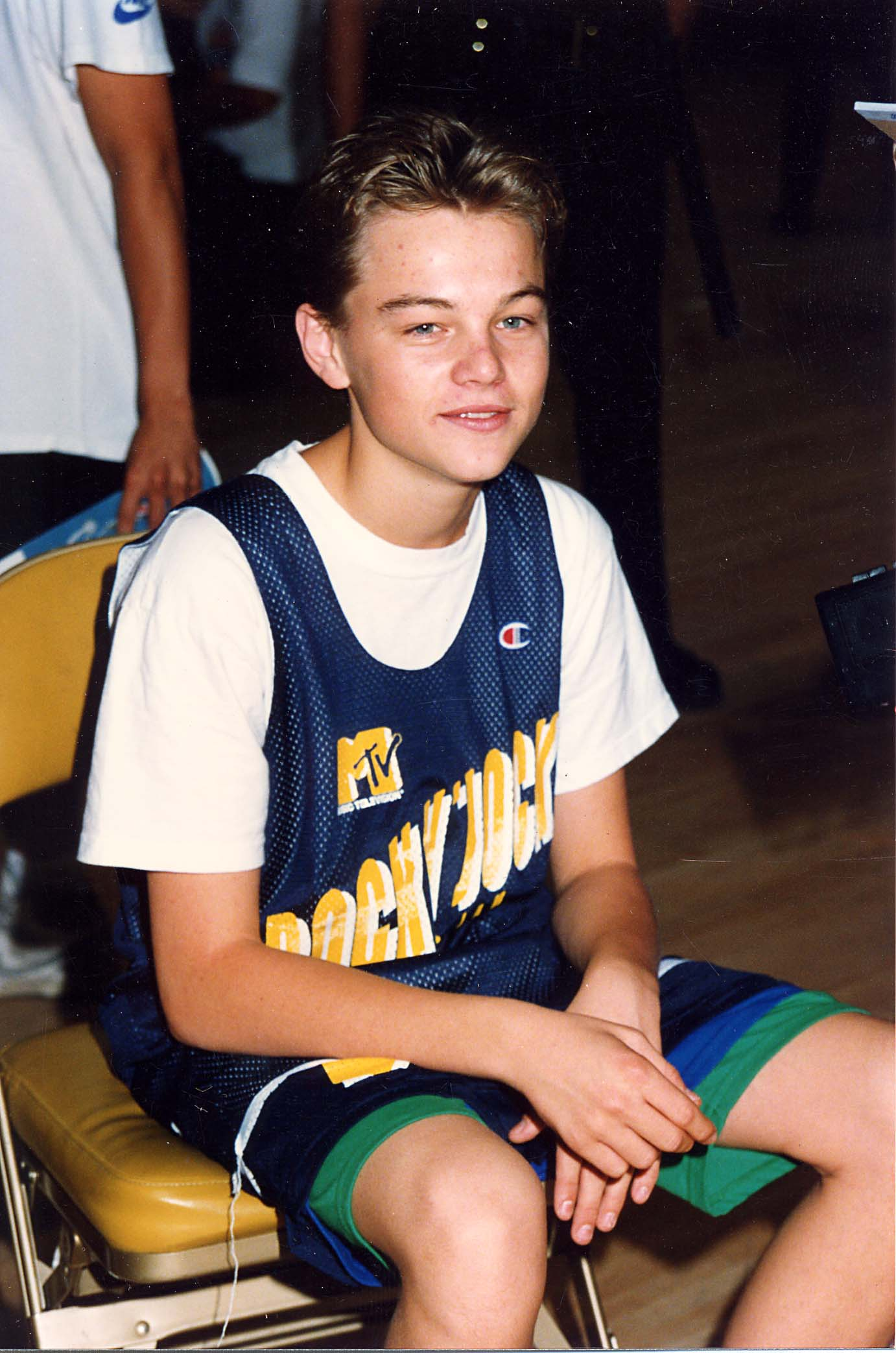 Leonardo DiCaprio during the 1992 MTV Rock n Jock Basketball in Irvine, Calif. on Sept. 19, 1992.