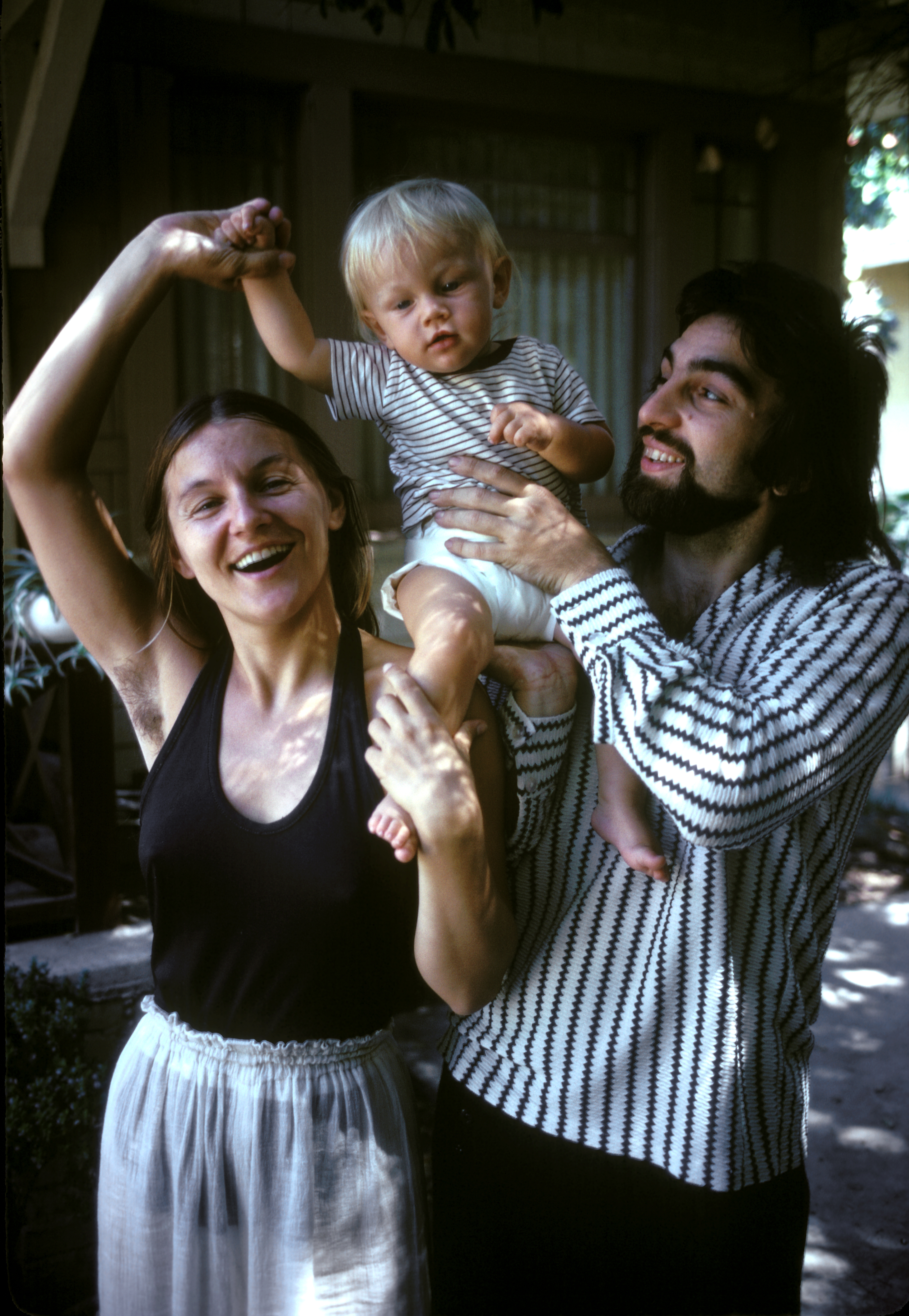 Leonardo DiCaprio with his mother, Irmelin, and father, George, in Los Angeles in 1976.