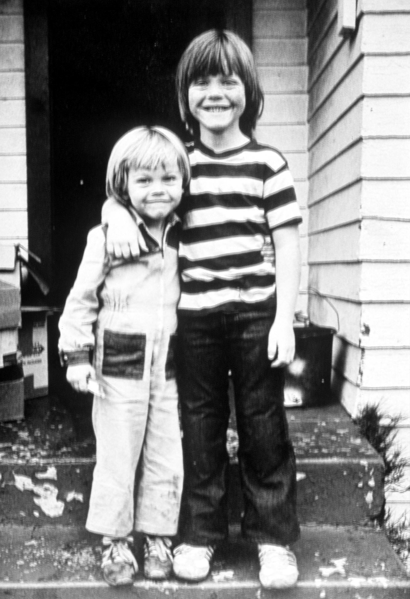 From left: Leonardo DiCaprio and his stepbrother, Adam Ferrer, in Los Angeles in 1978.